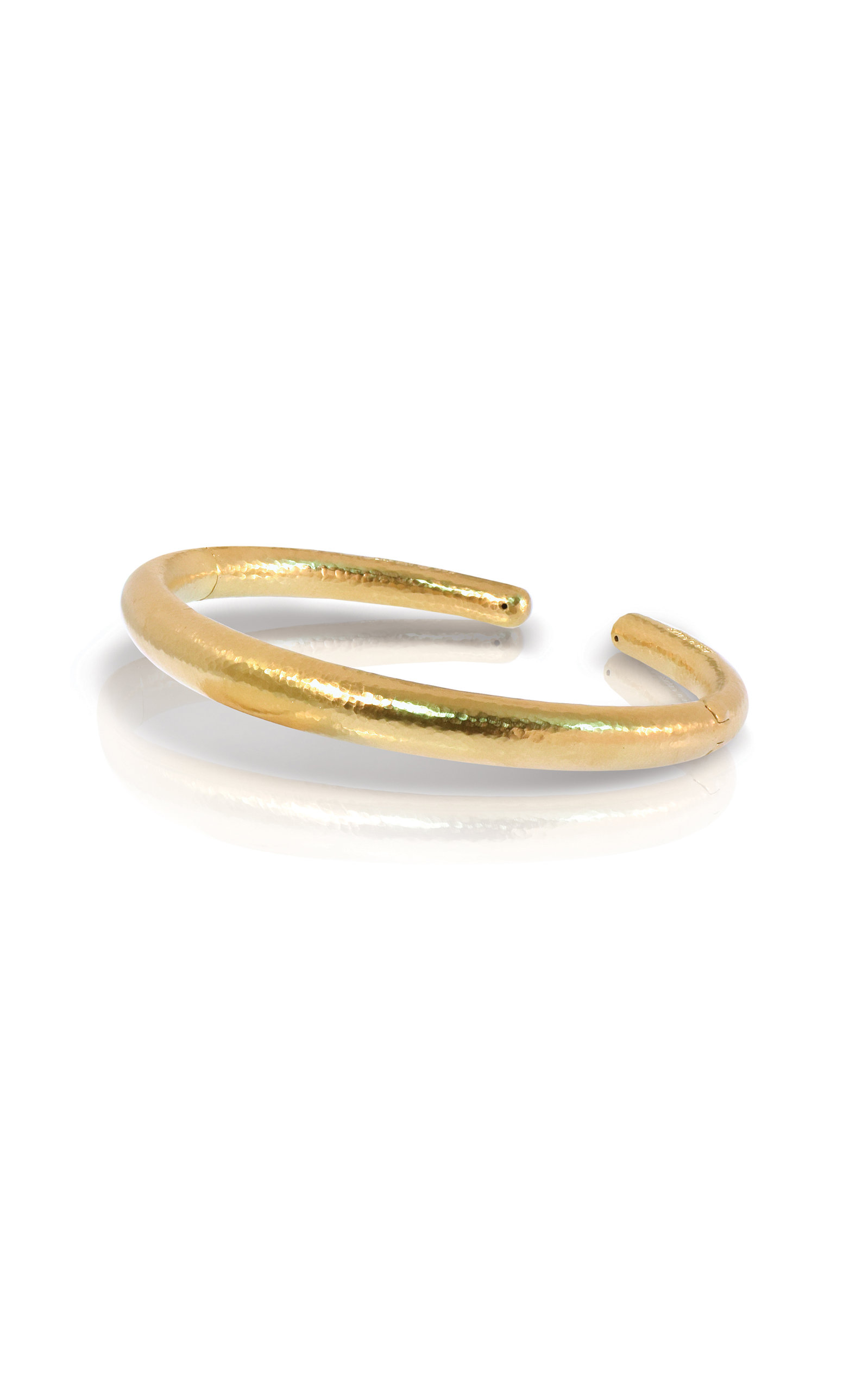 ILIAS LALAOUNIS   Ilias Lalaounis Gold Open Cuff Bracelet   Goxip