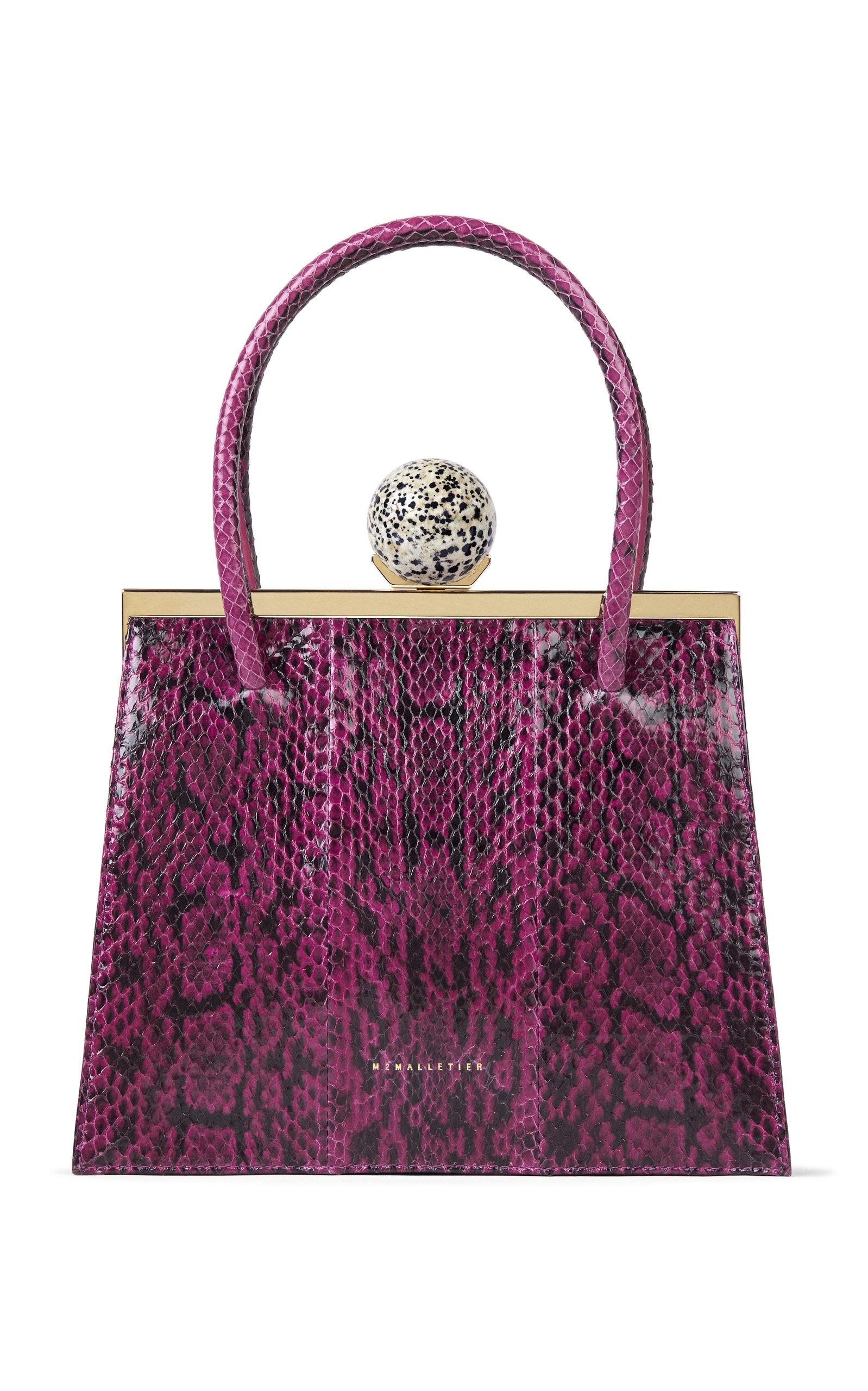M2MALLETIER | M2Malletier M'O Exclusive Marie Laure Snake Bag | Goxip
