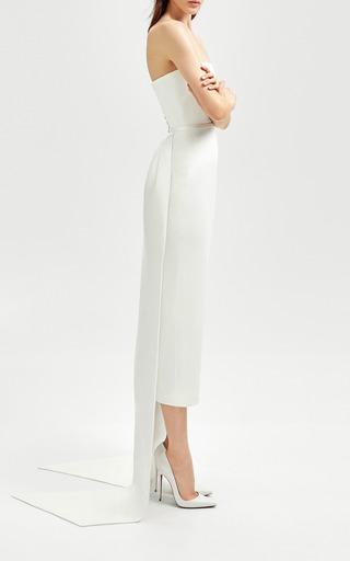 b7cd519b3a3 Alex PerryBea Ruffled Silk Strapless Midi Dress.  2