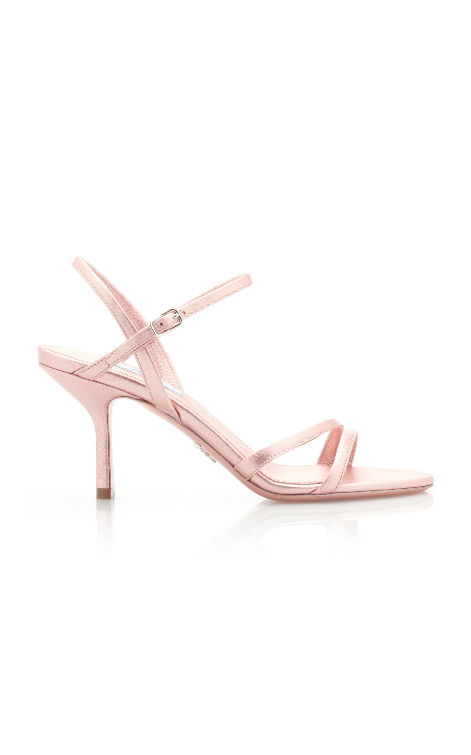 PRADA | Prada Metallic Leather Sandals | Goxip