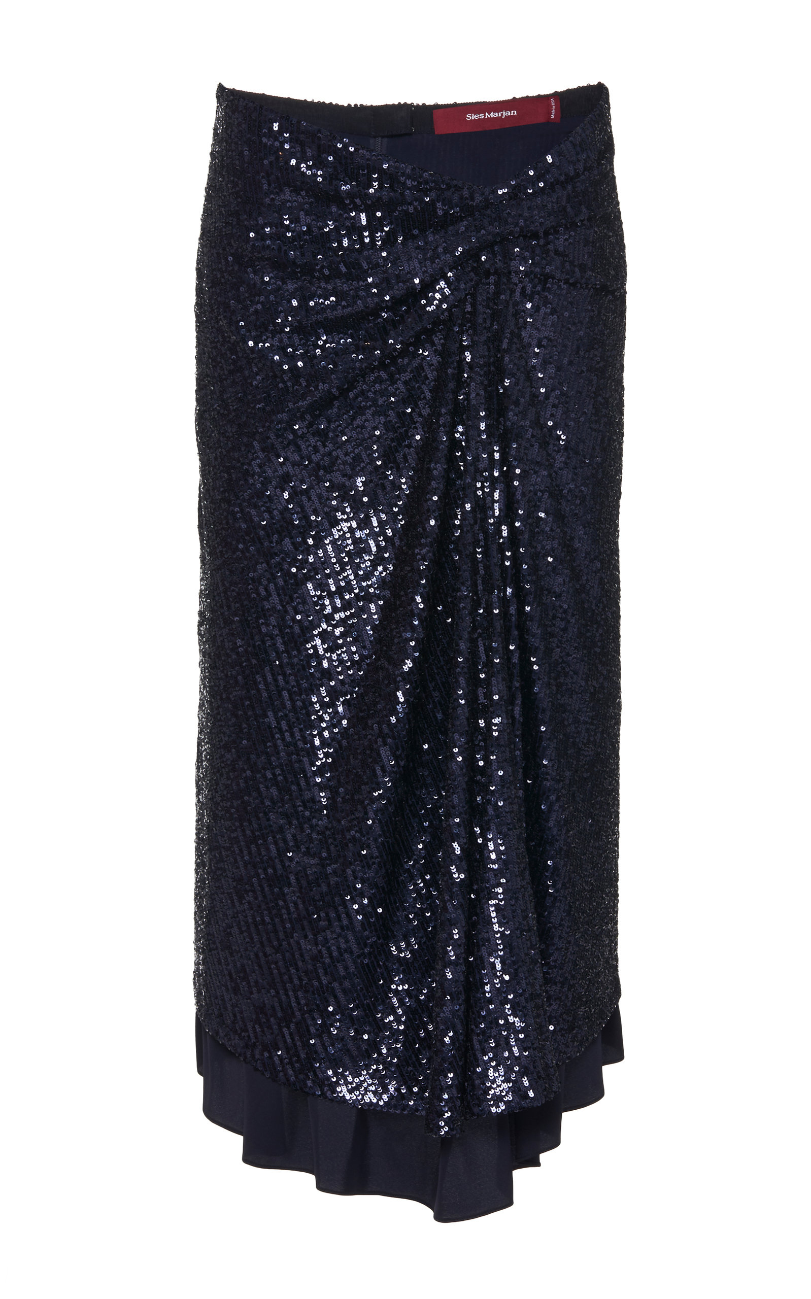 Sies Marjan Skirts Kayla Draped Sequin Midi Skirt