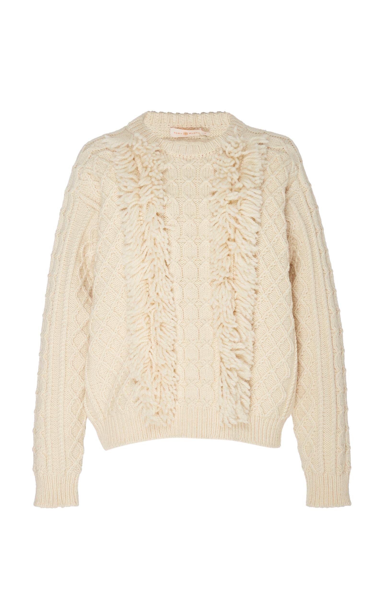 TORY BURCH | Tory Burch Wool Fringe Sweater | Goxip