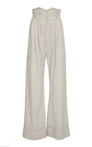 SITUATIONIST | SITUATIONIST High-Rise Wool Wide-Leg Pants | Goxip