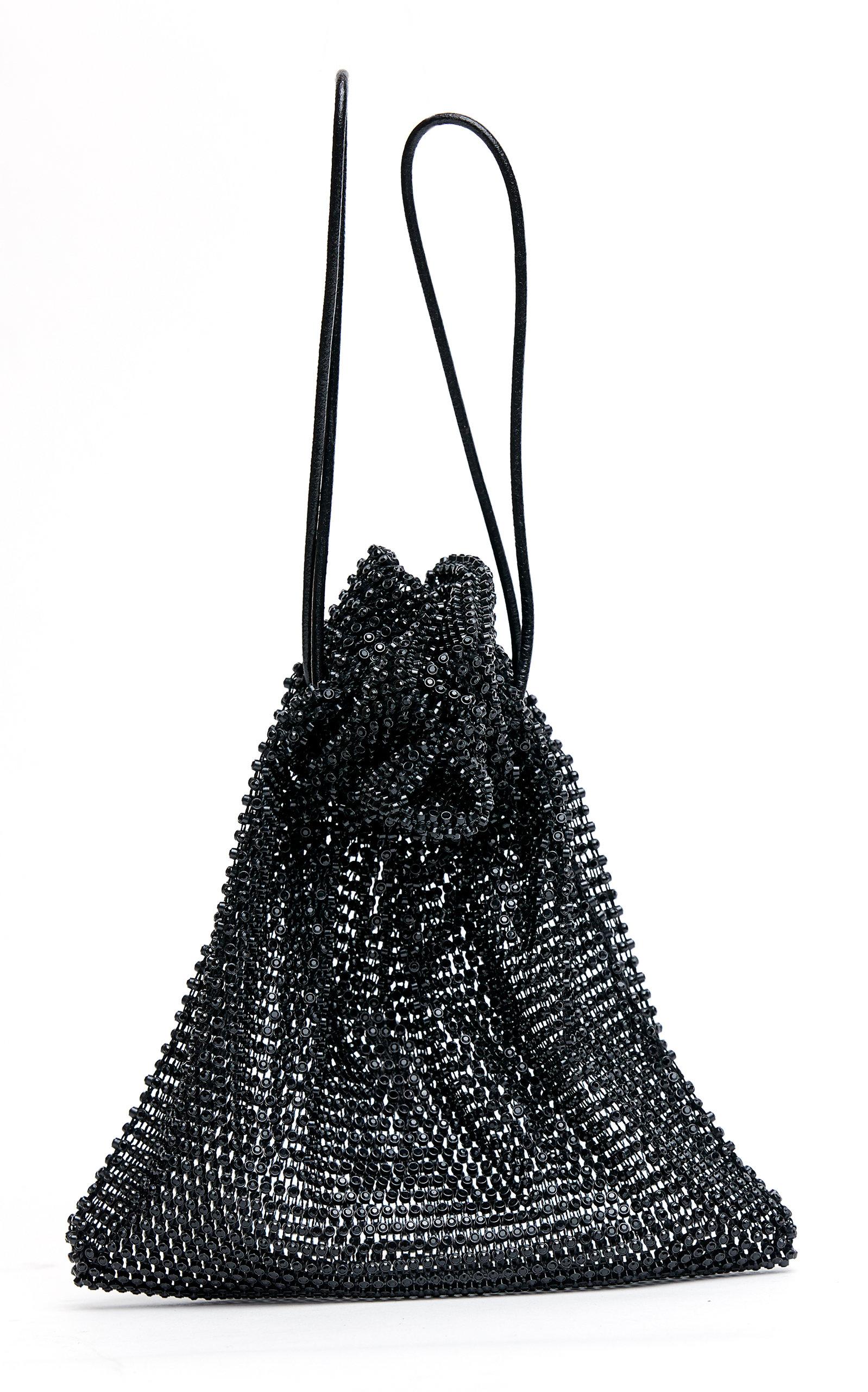 MACH & MACH | Mach & Mach Crystalized Mesh Sparkling Bucket Bag | Goxip