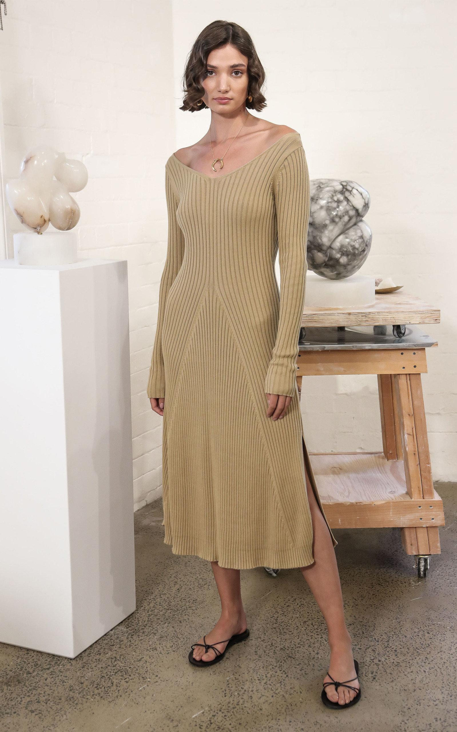 6f1df4553 Emory Rib-Knit Cotton Dress by Anna Quan | Moda Operandi