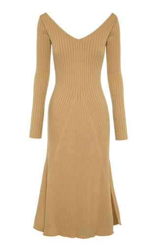 ANNA QUAN   Anna Quan Emory Rib-Knit Cotton Dress   Goxip