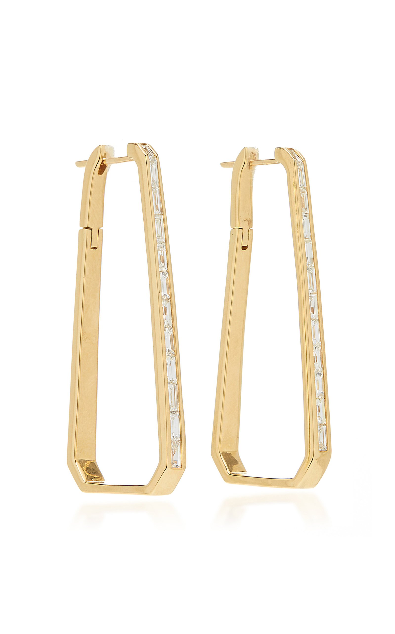 5ea5c4962c57f Deco 18K Gold And Diamond Hoops