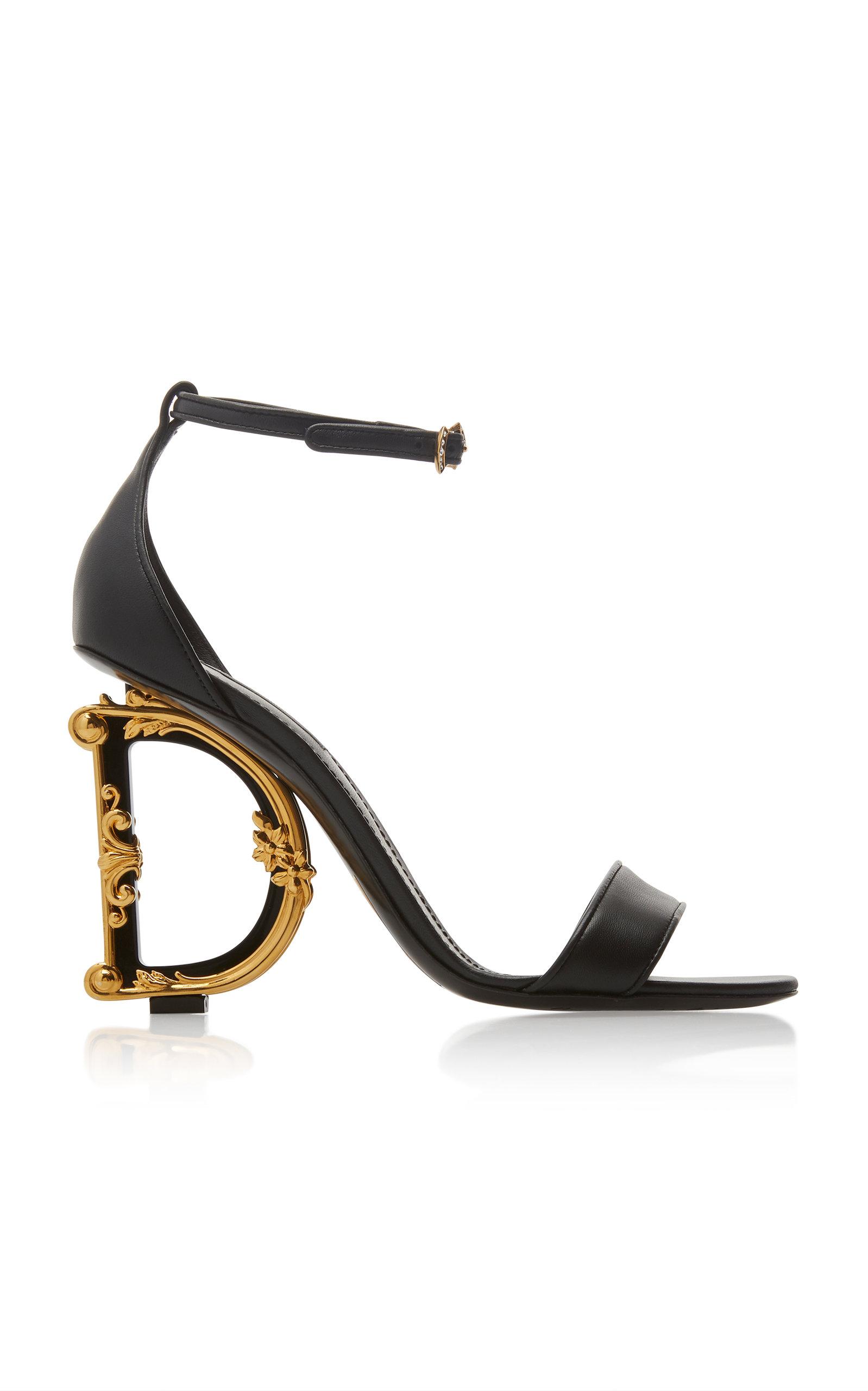 Dolce & Gabbana Sandals Logo-Embellished Leather Sandals