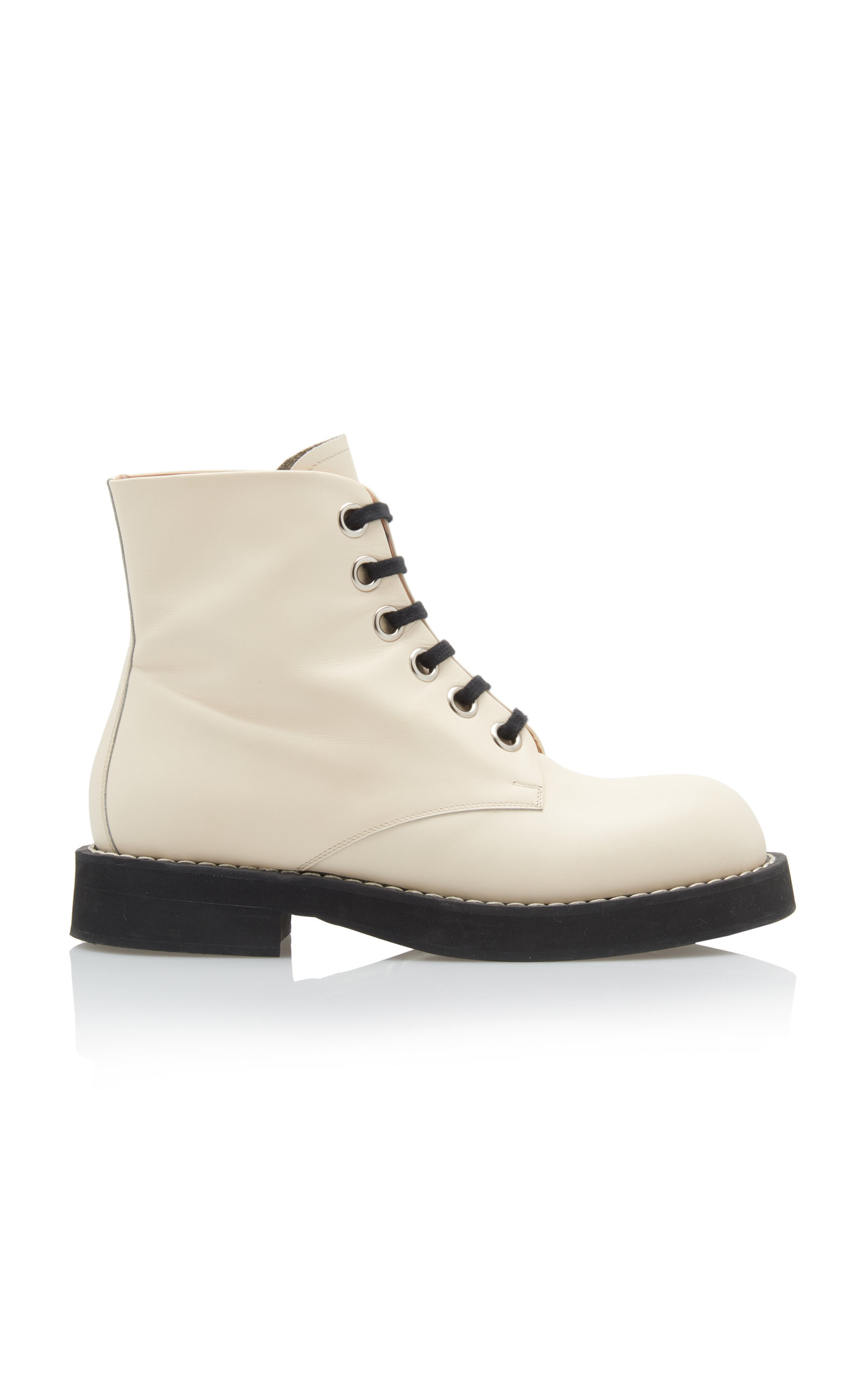 MARNI Leather Combat Boots