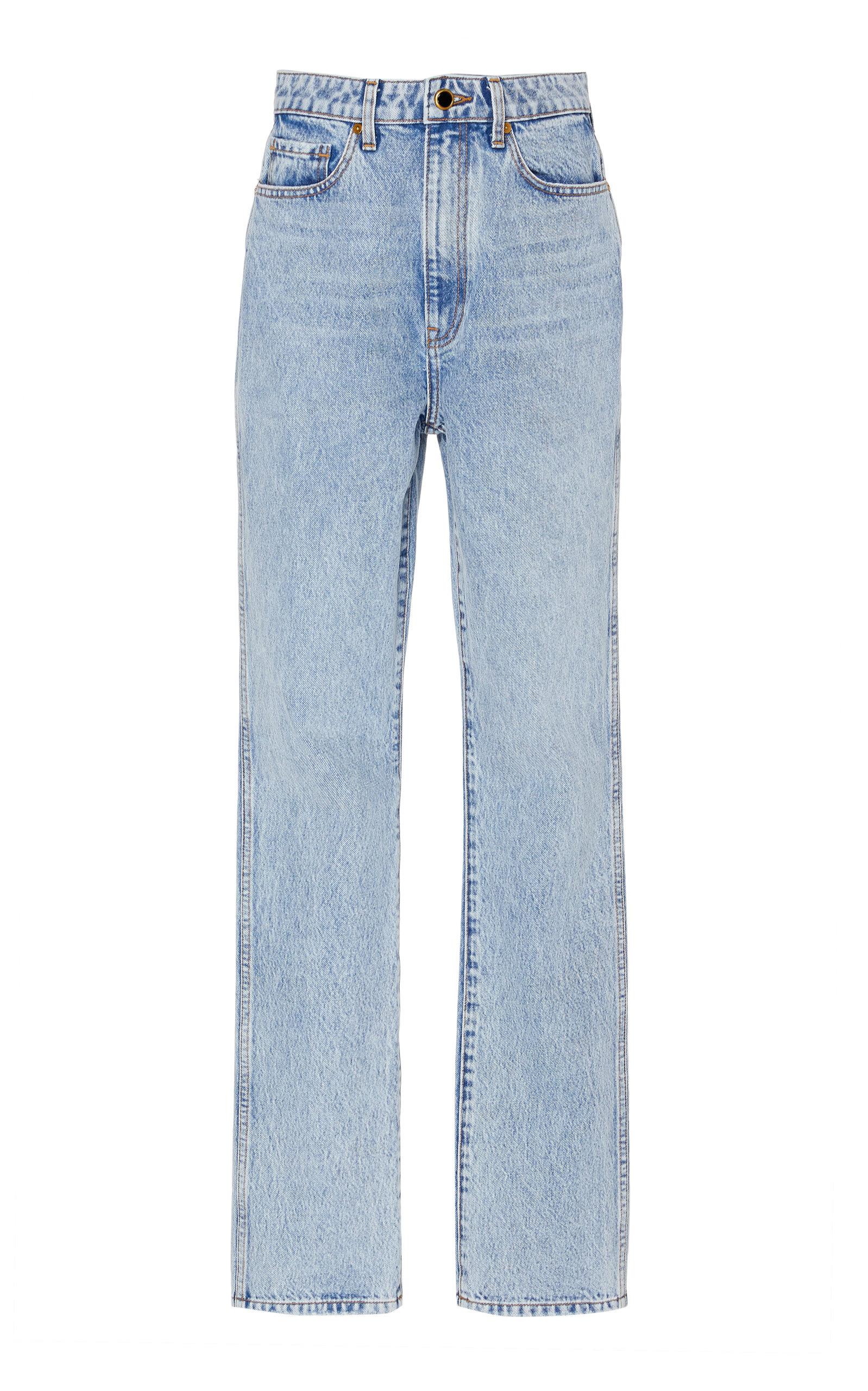 Khaite Jeans DARIA HIGH-RISE STRAIGHT-LEG JEANS