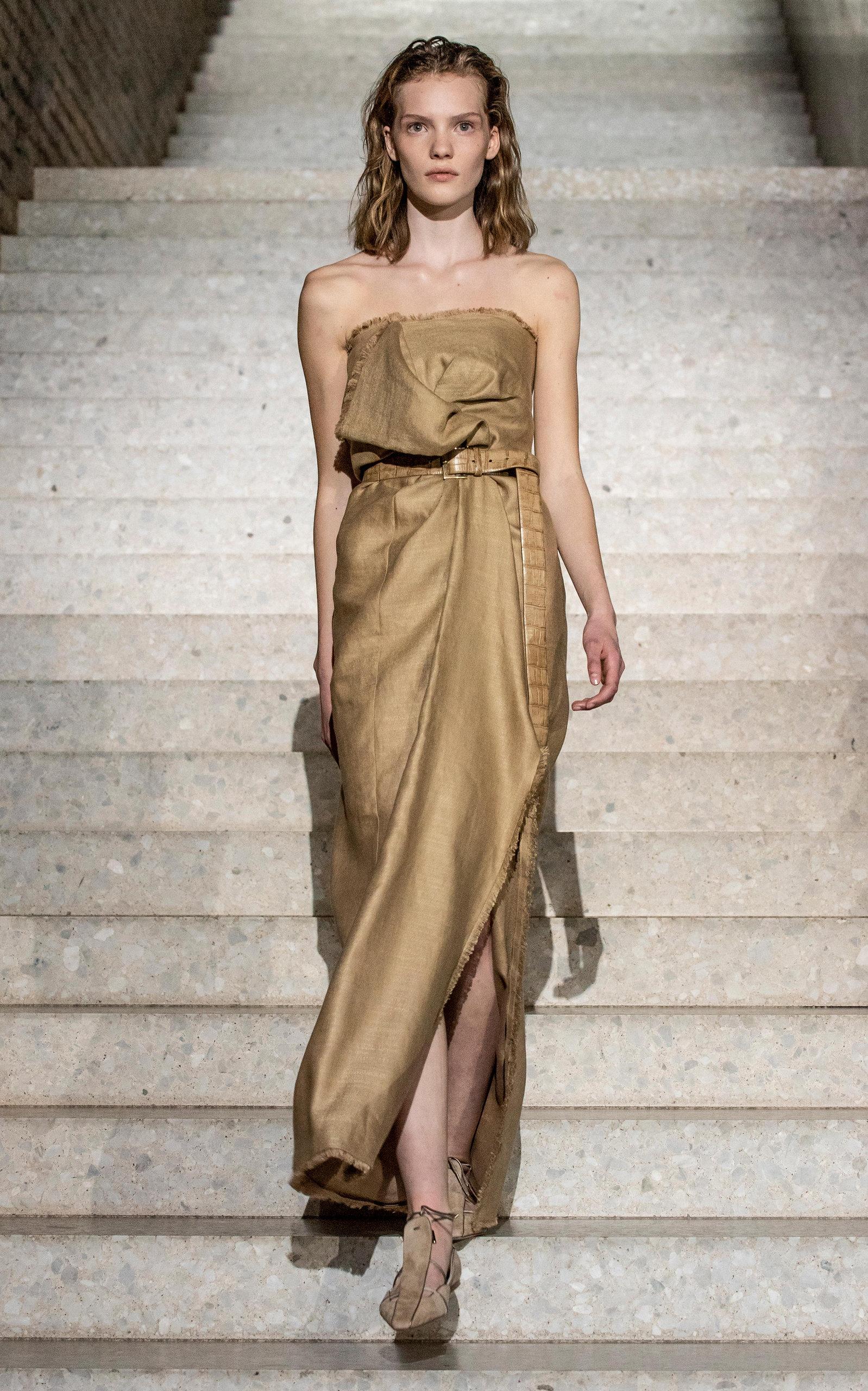38e86688e19ce Baschi Linen-Silk Column Dress by Max Mara   Moda Operandi