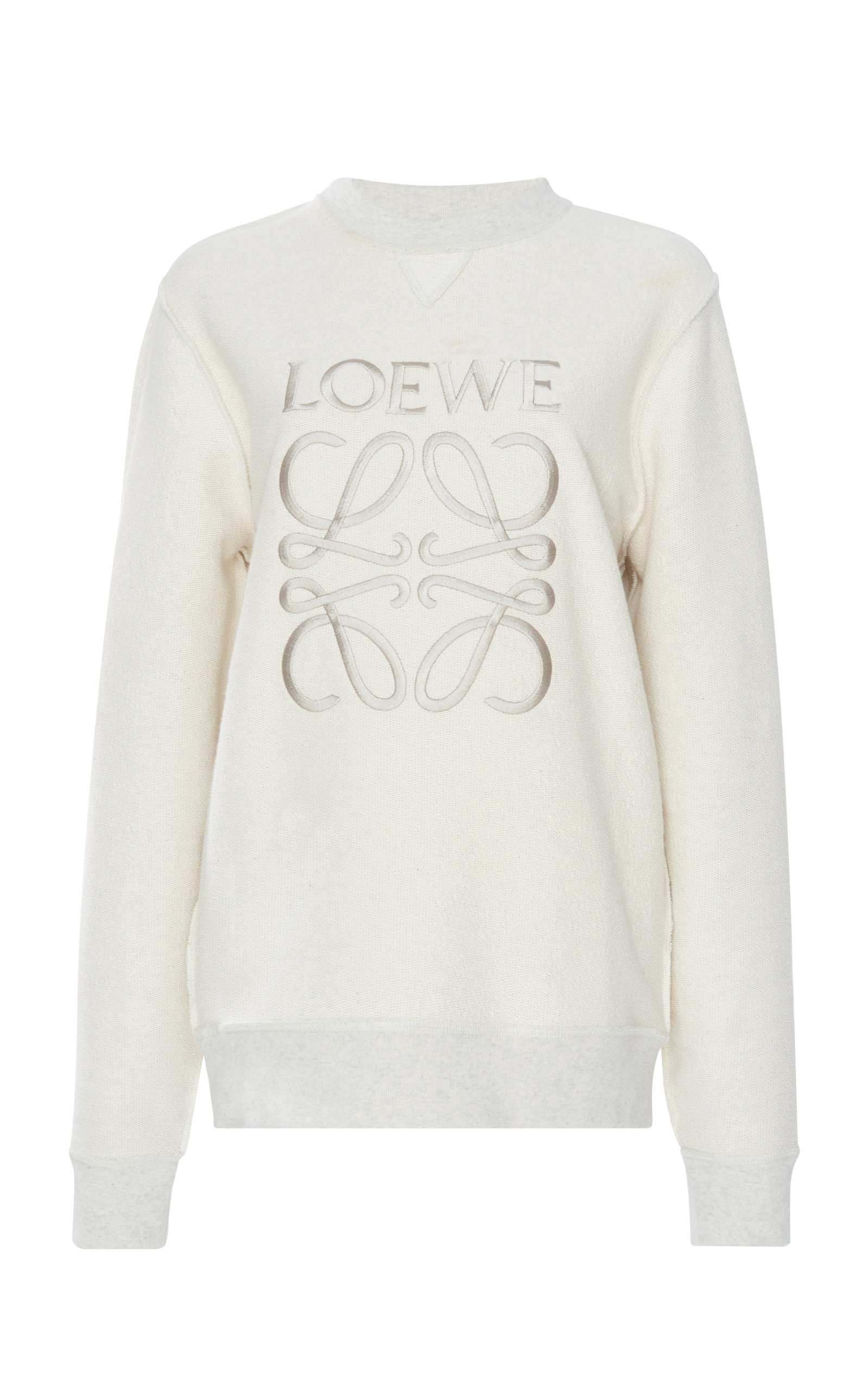Loewe Shirts Embroidered Cotton-Terry Sweatshirt