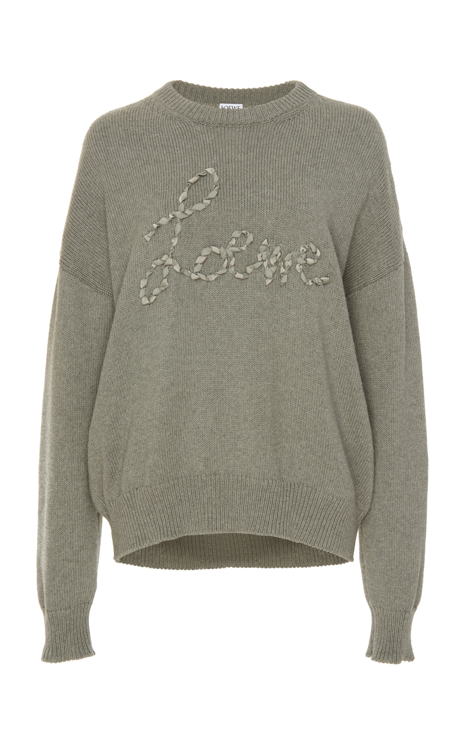 Loewe Shirts Embroidered Cotton Sweatshirt