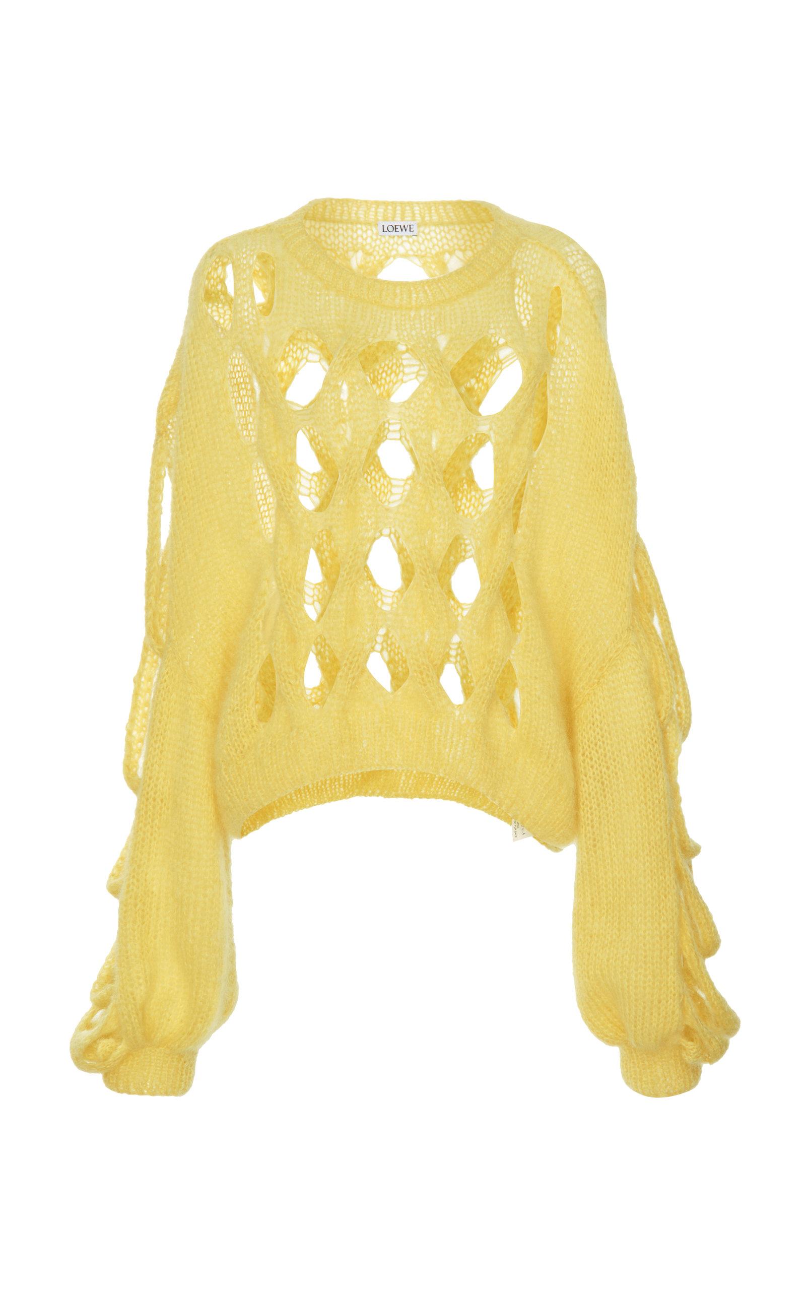Loewe Knits Open-Knit Mohair Sweater