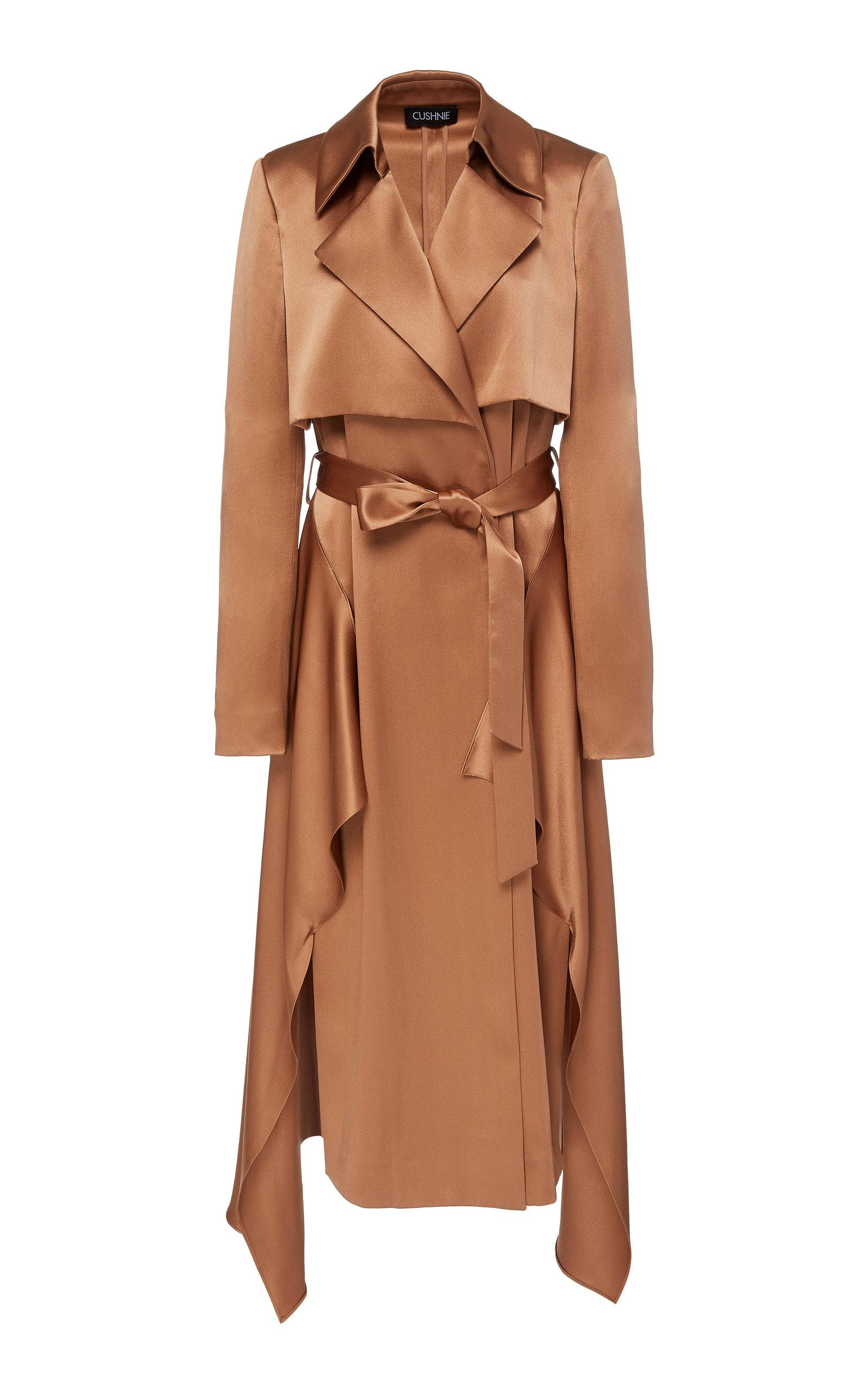 e02212707f4 Satin-effect Silk Trench Coat by Cushnie | Moda Operandi
