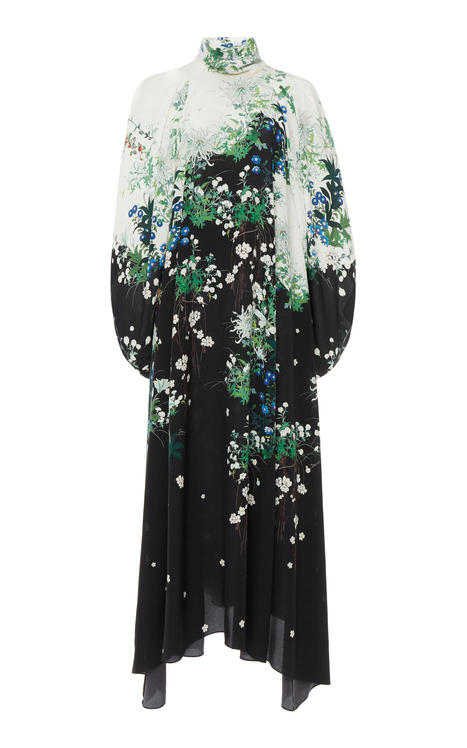 Givenchy Dresses Floral-Print Silk-Chiffon Maxi Dress