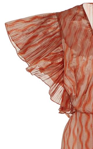 d2c096b161 Dietrich Ruffled Satin-effect Maxi Dress
