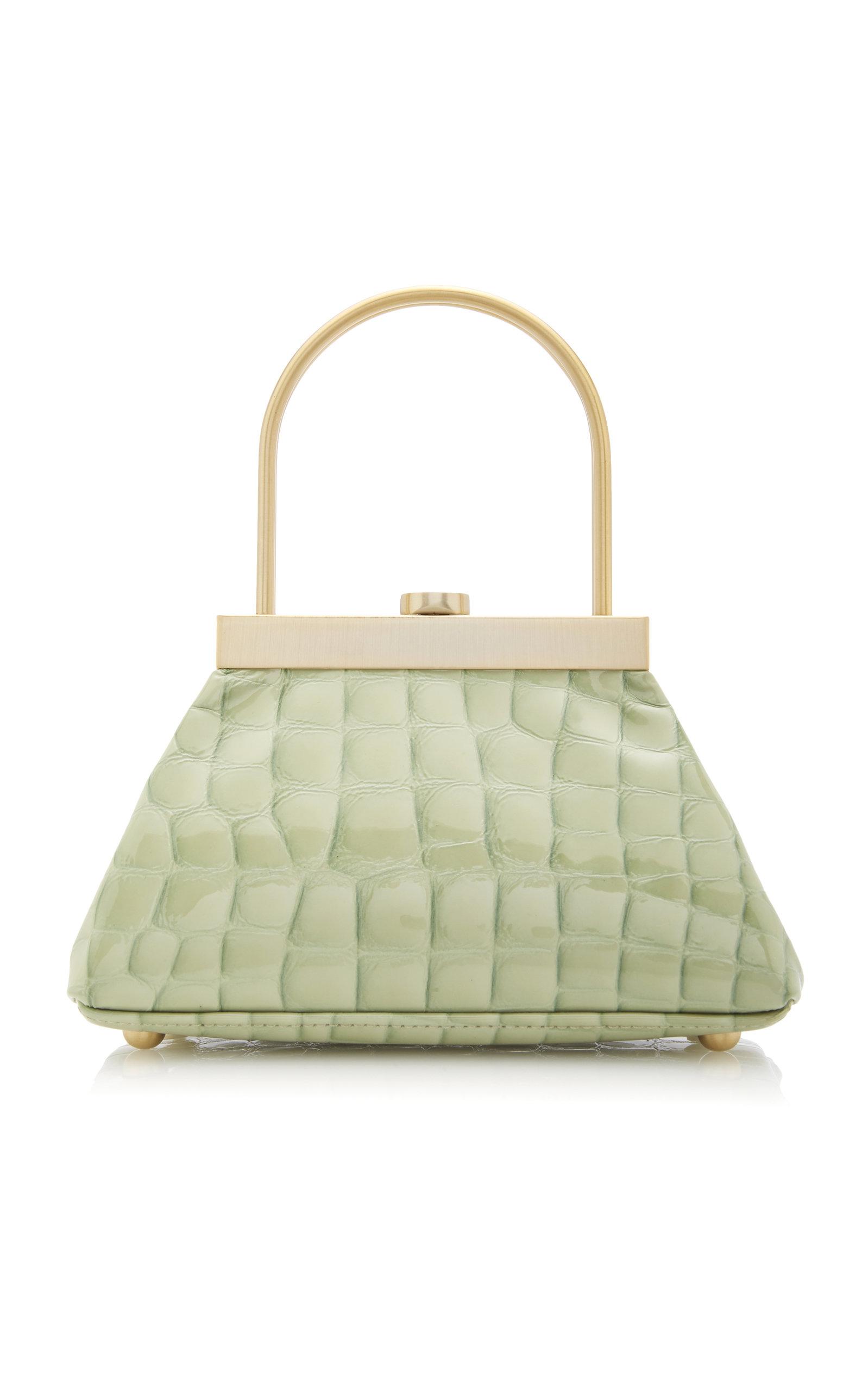 Estelle Mini Croc Embossed Leather Bag