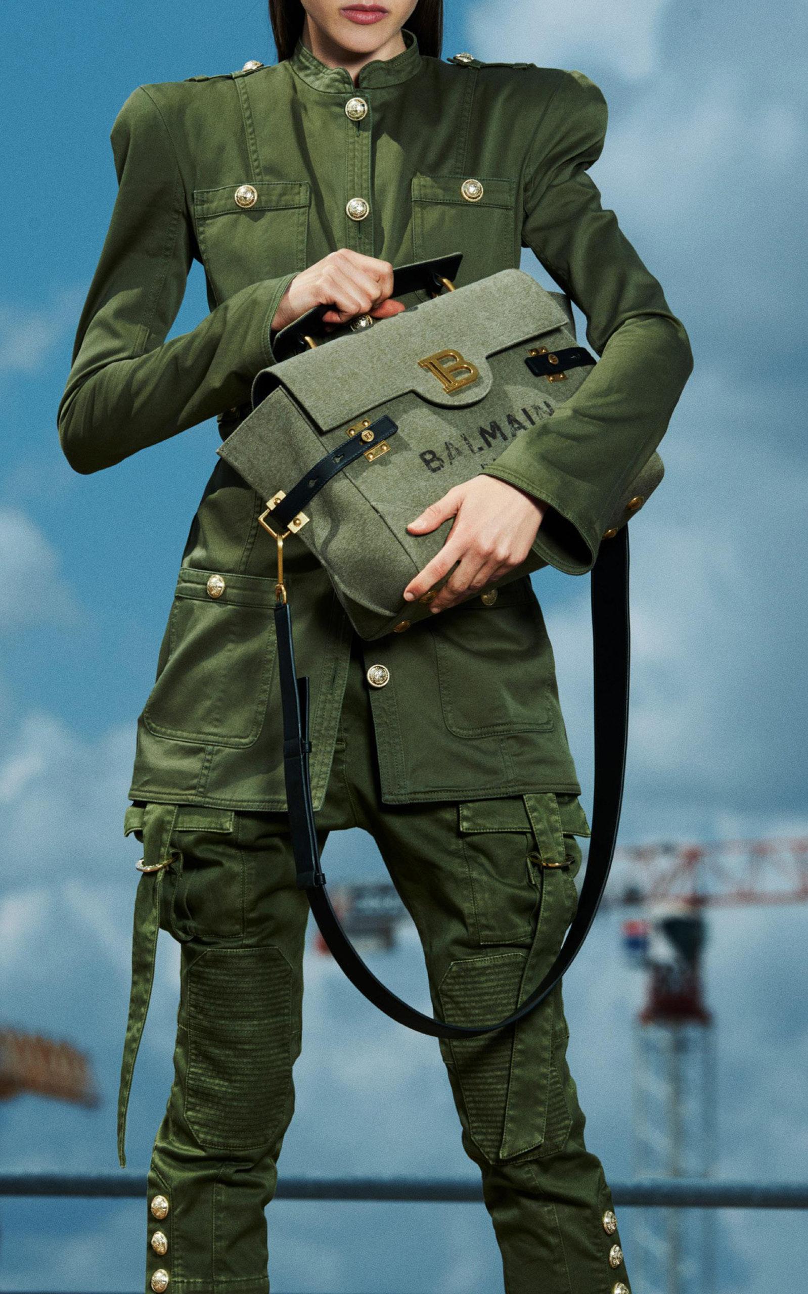 6bf2d582 Chainlink Stretch Cotton Military Jacket by Balmain | Moda Operandi