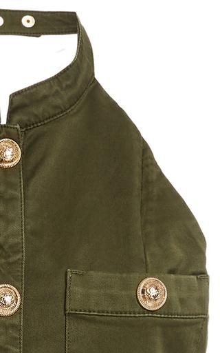 15c9eedf Camo Chainlink Military Jacket by Balmain | Moda Operandi