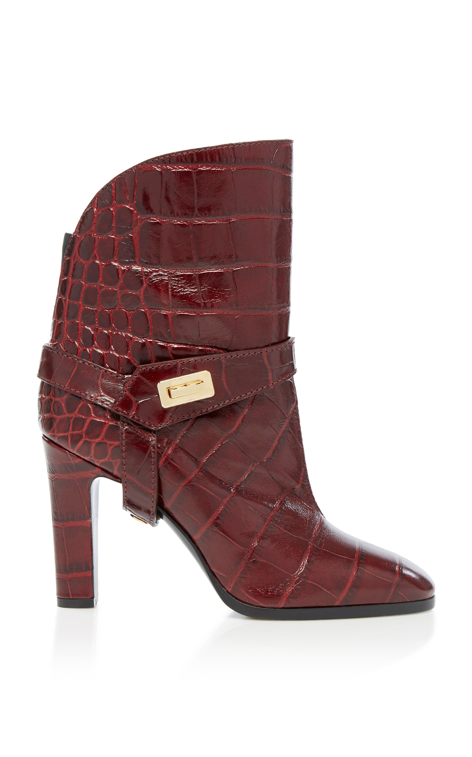 Givenchy Boots Eden Croc-Effect Leather Boots
