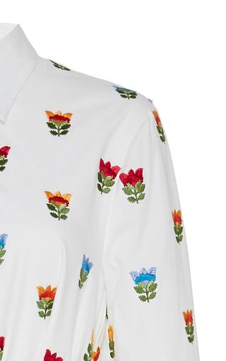 Printed Cotton Shirt Dress展示图
