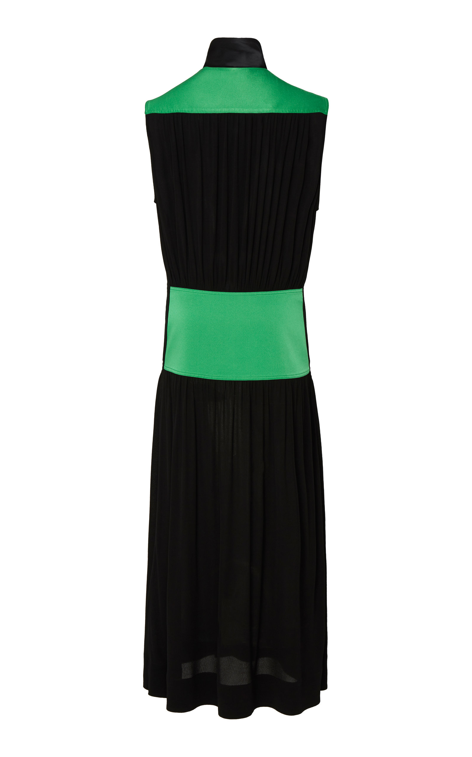 Givenchy Dresses Two-Tone Tie-Detailed Georgette Midi Dress