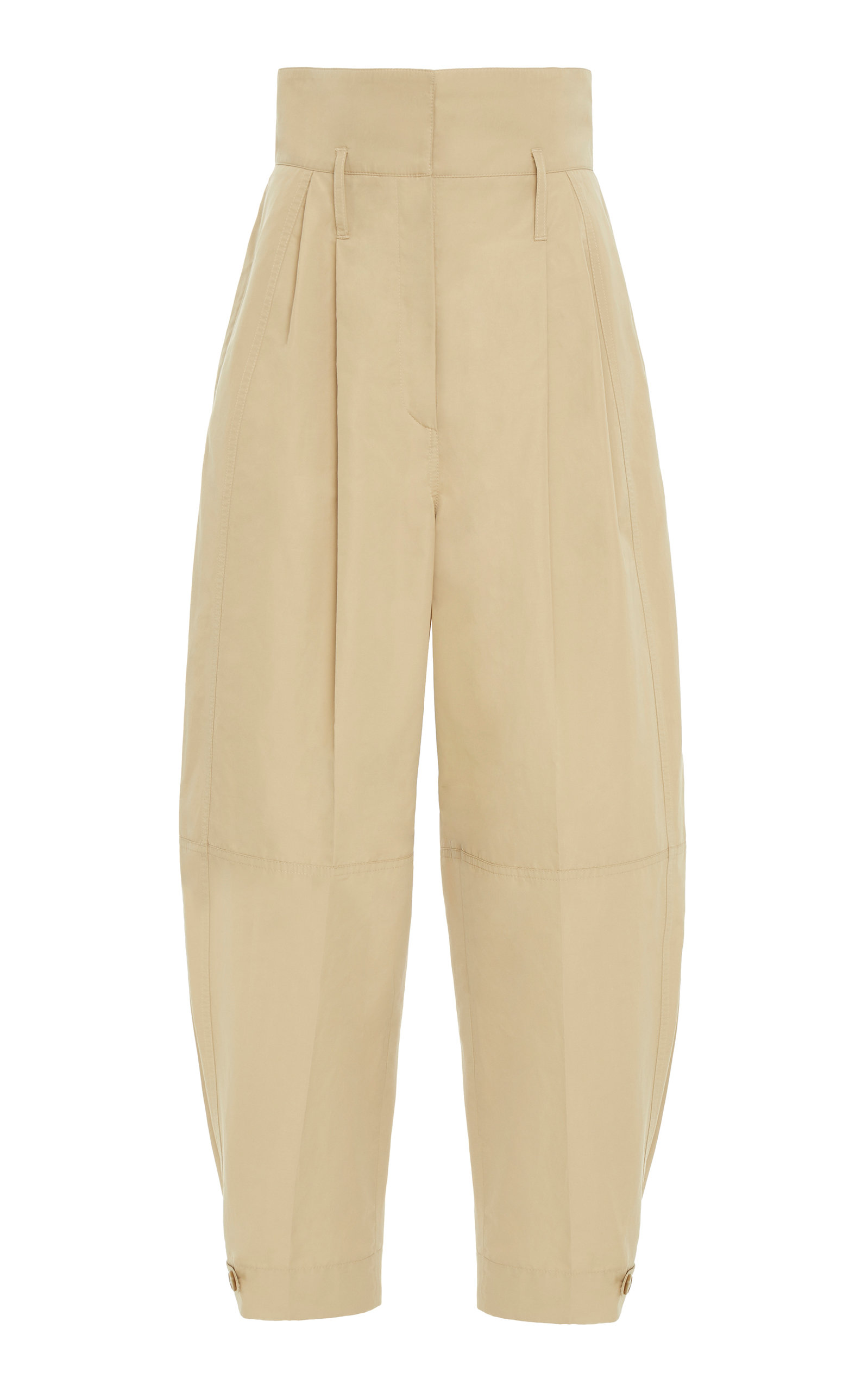 Givenchy Pants Cotton-Canvas Wide-Leg Trousers