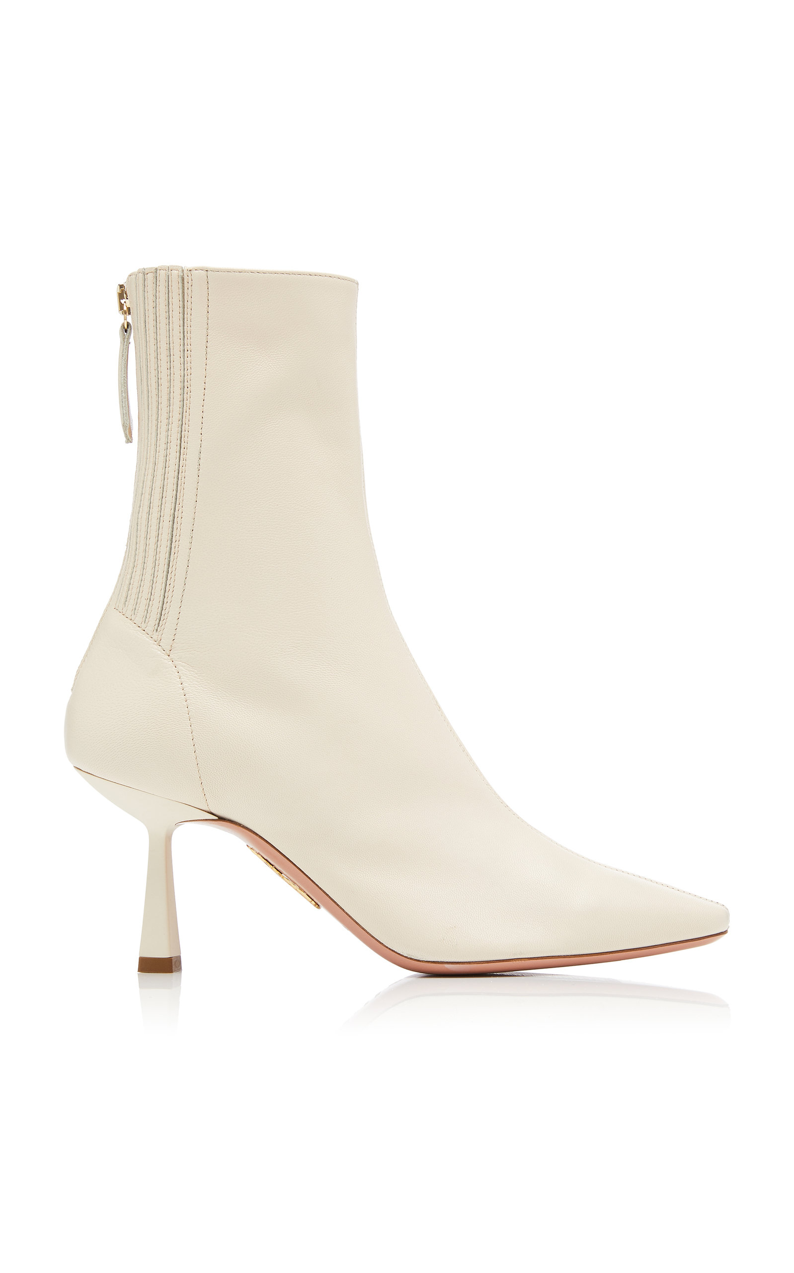 Aquazzura Boots Curzon Leather Ankle Boots