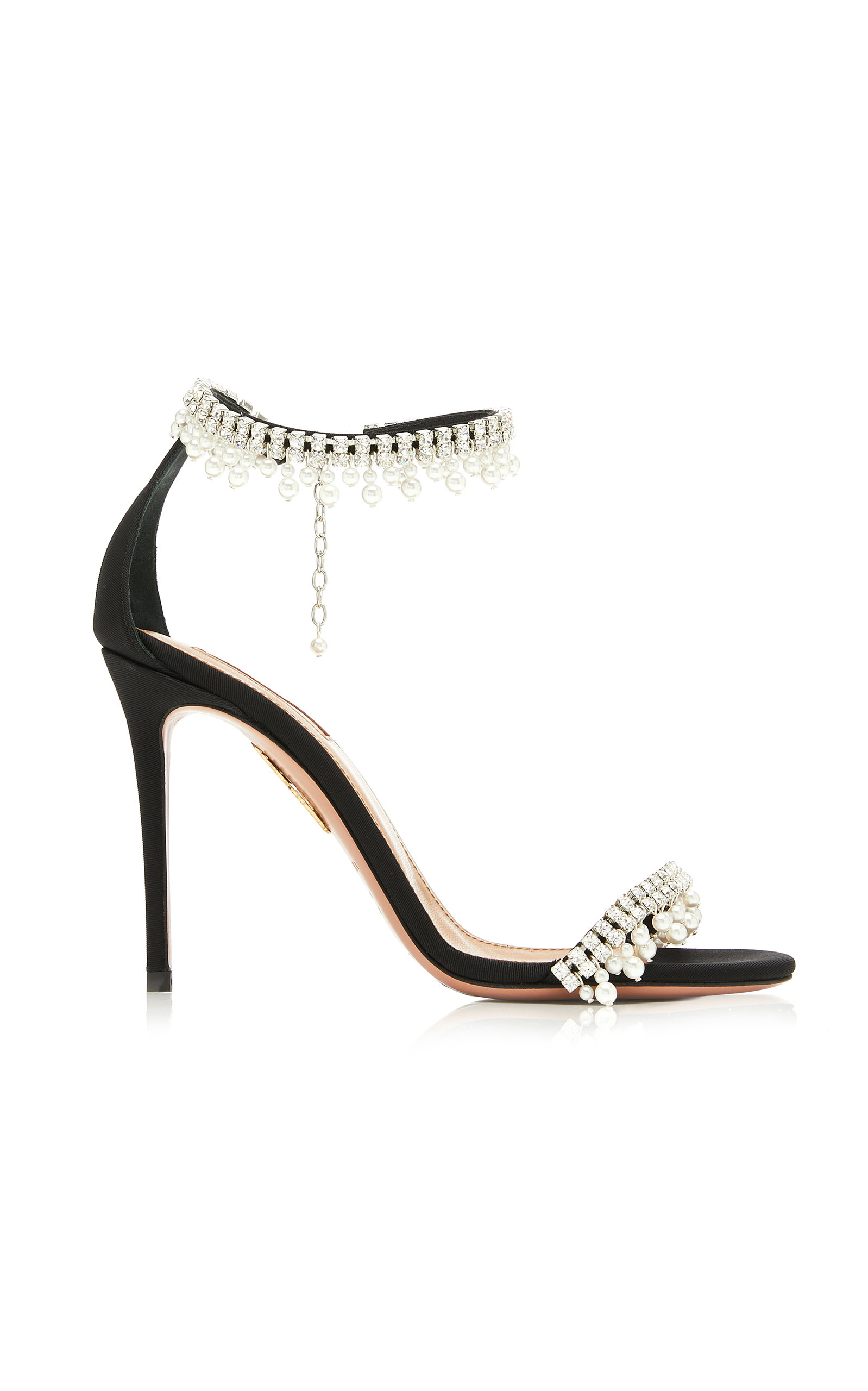 Aquazzura Sandals Exquisite Embellished Leather Sandals