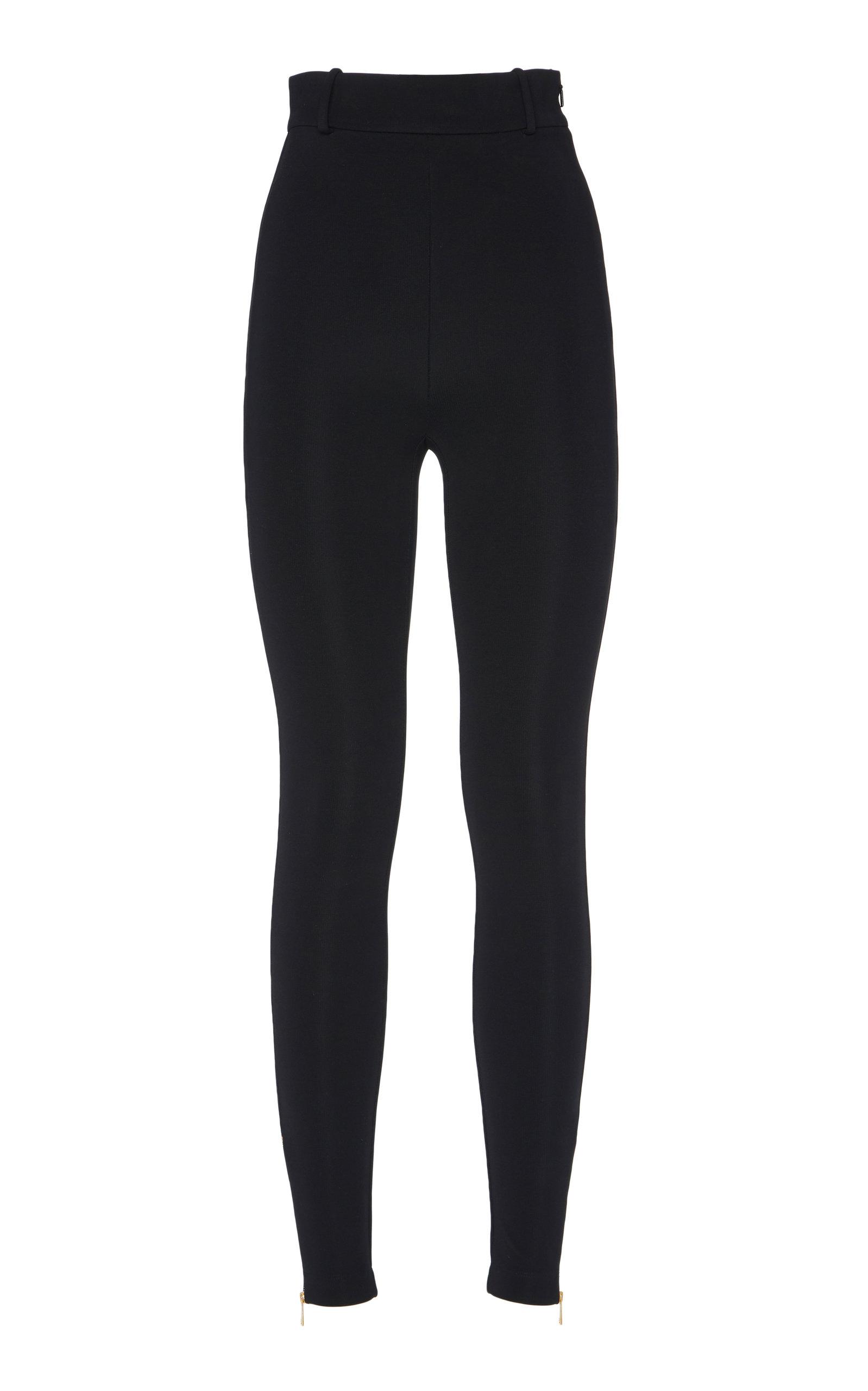 Versace Pants High-Rise Stretch-Jersey Leggings