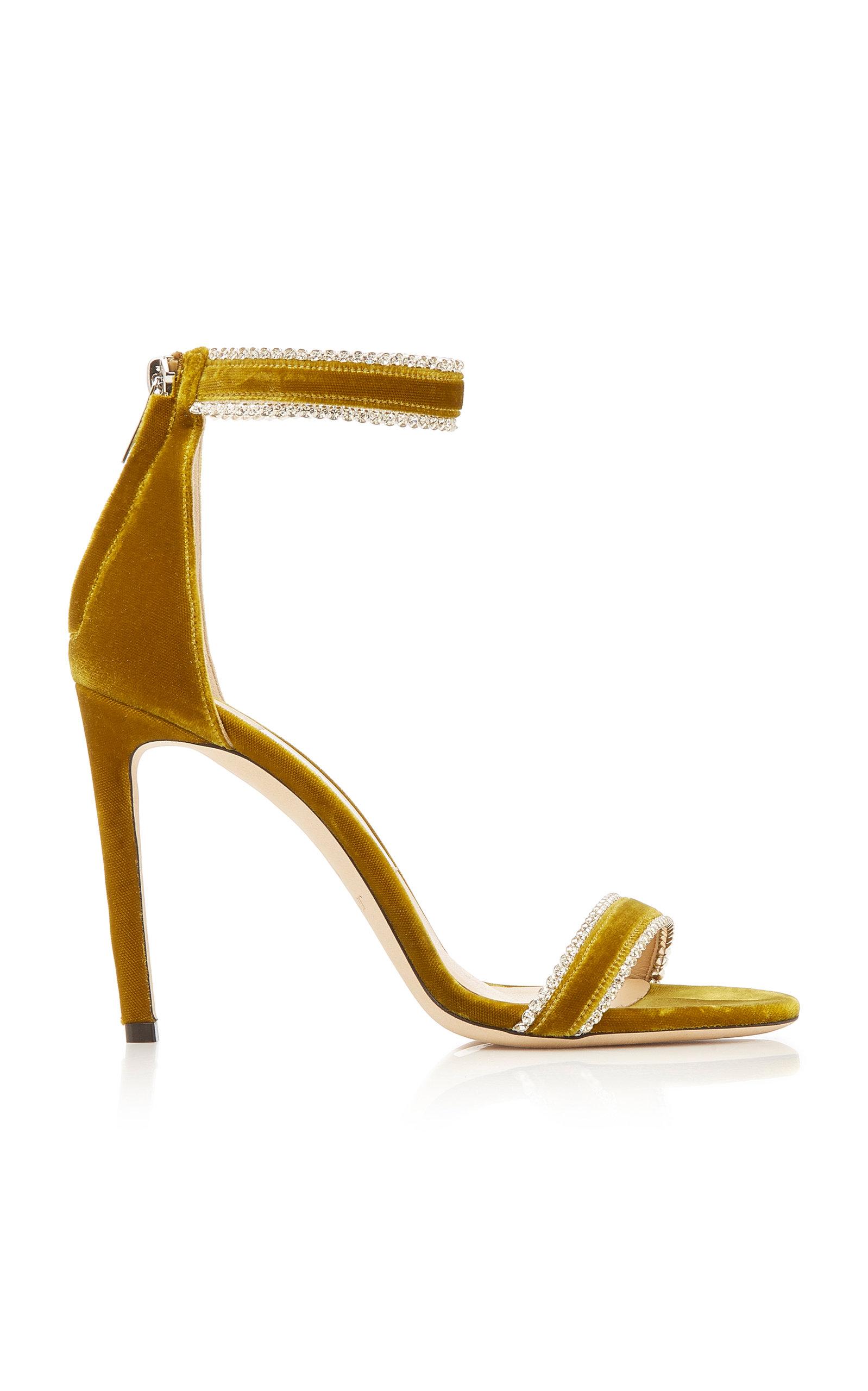 Jimmy Choo Sandals Dochas Crystal-Embellished Velvet Sandals