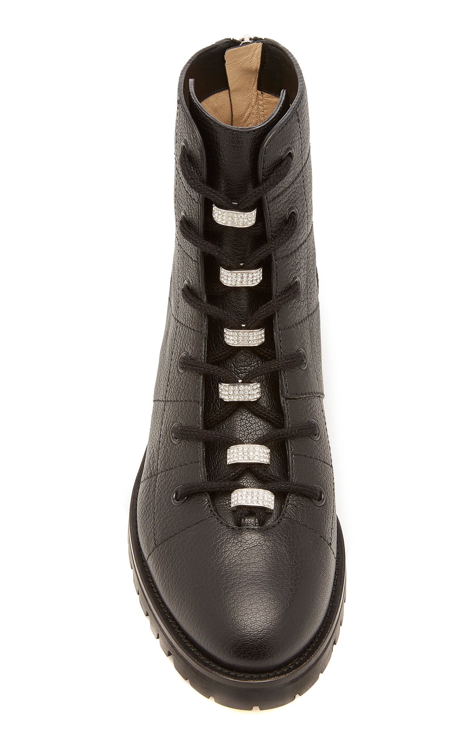 Jimmy Choo Boots Bren Crystal-Embellished Leather Ankle Boots