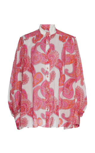 Zimmermann Linens PEGGY PRINTED RAMIE BLOUSE