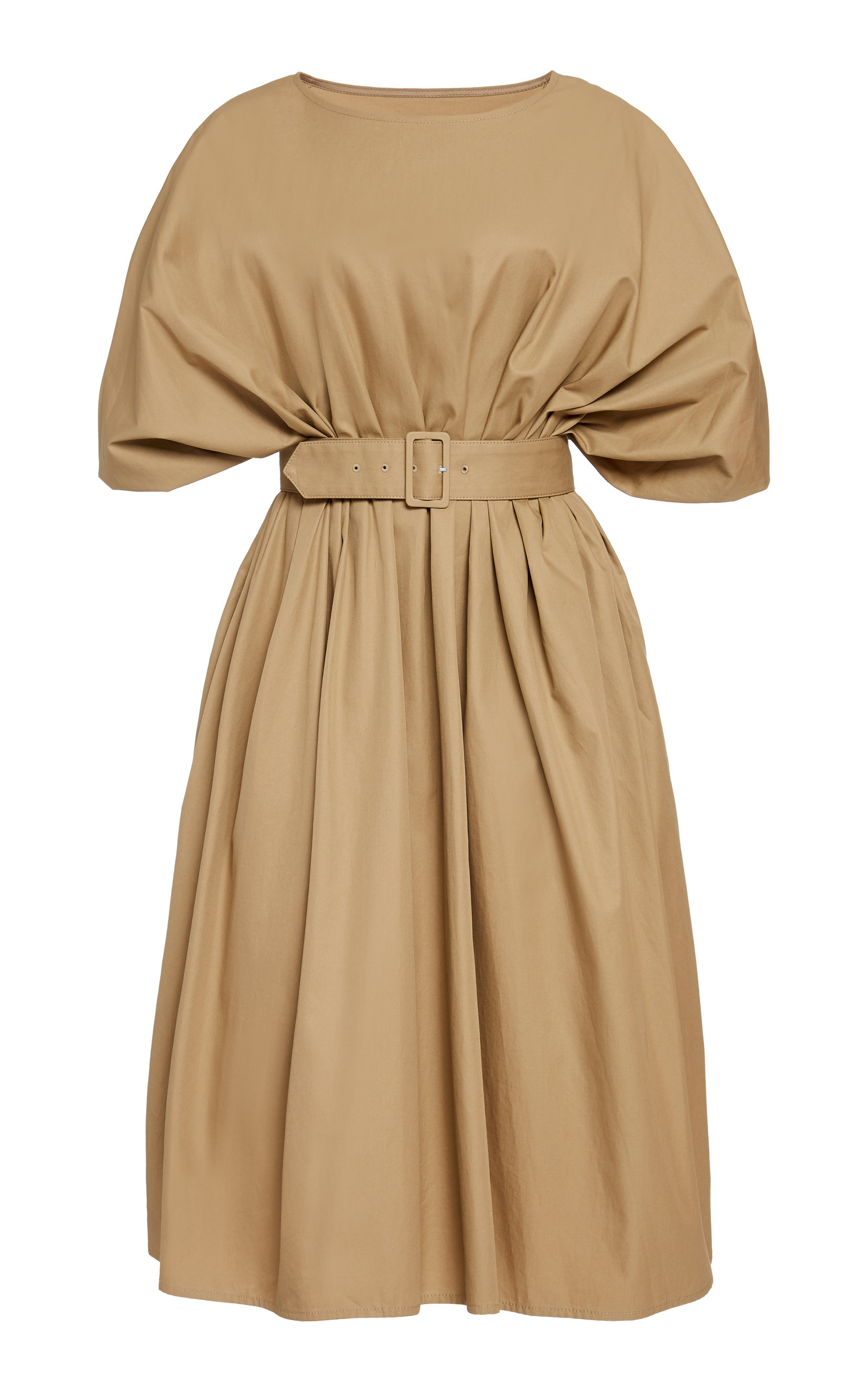 Mm6 Maison Margiela Dresses BELTED COTTON-TWILL MIDI DRESS