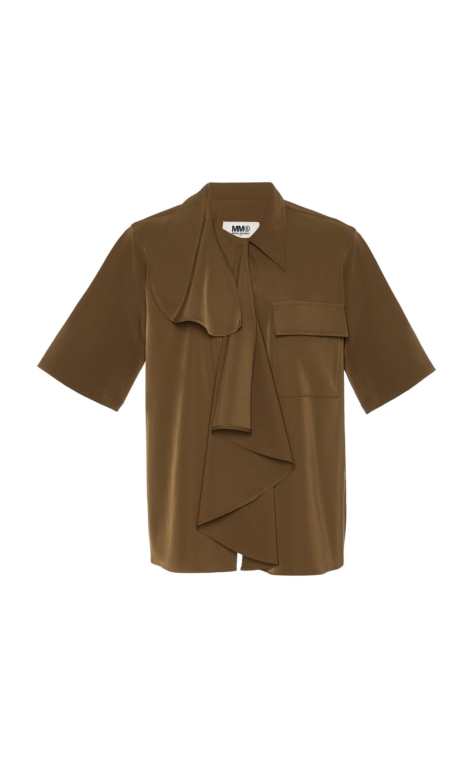 Mm6 Maison Margiela T-shirts DRAPED CREPE DE CHINE SHIRT