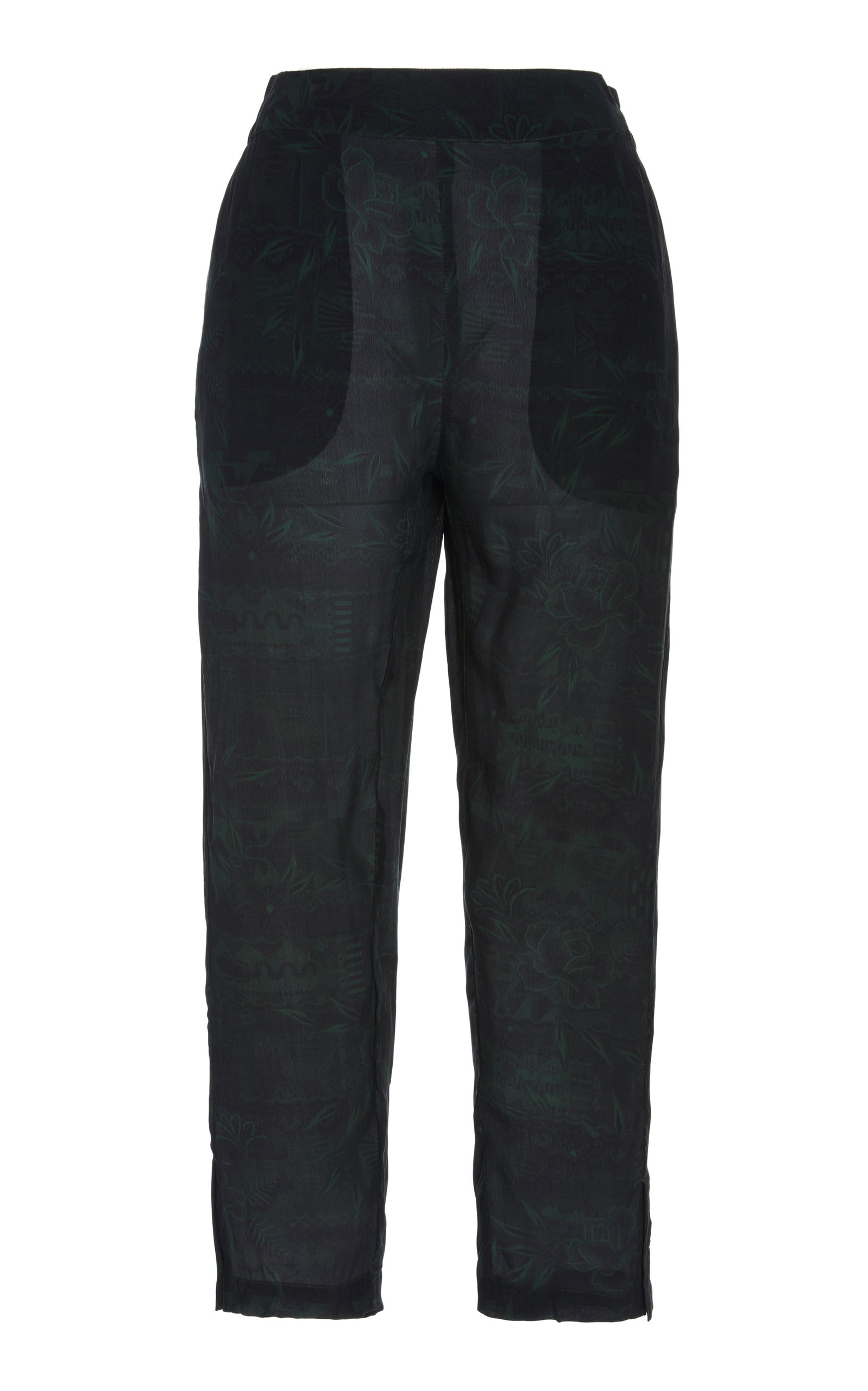 Chufy Pants QOYA CROPPED BROADCLOTH STRAIGHT-LEG PANTS