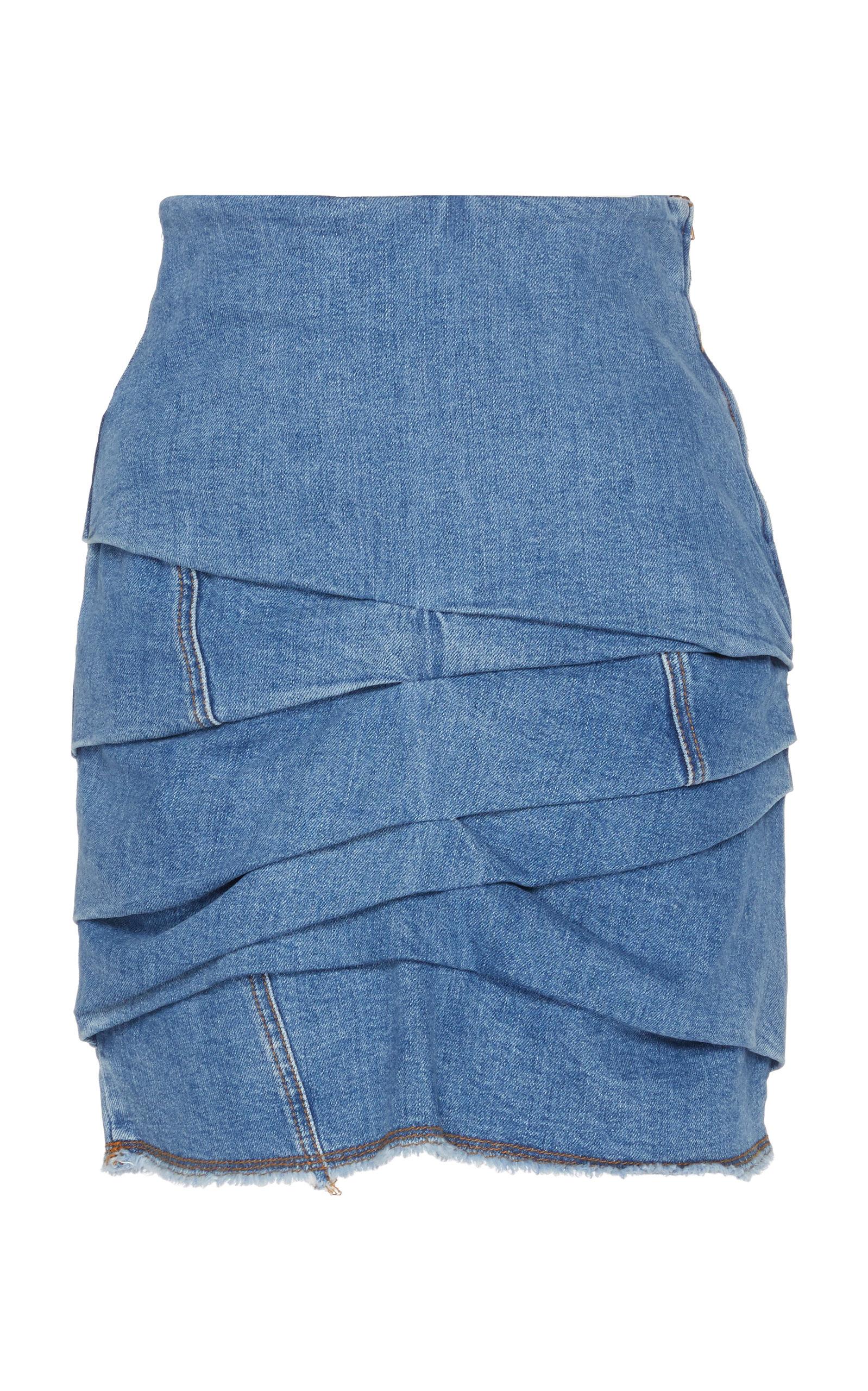 cbd68d0ca Distressed Layered Denim Skirt by Philosophy di Lorenzo Serafini ...