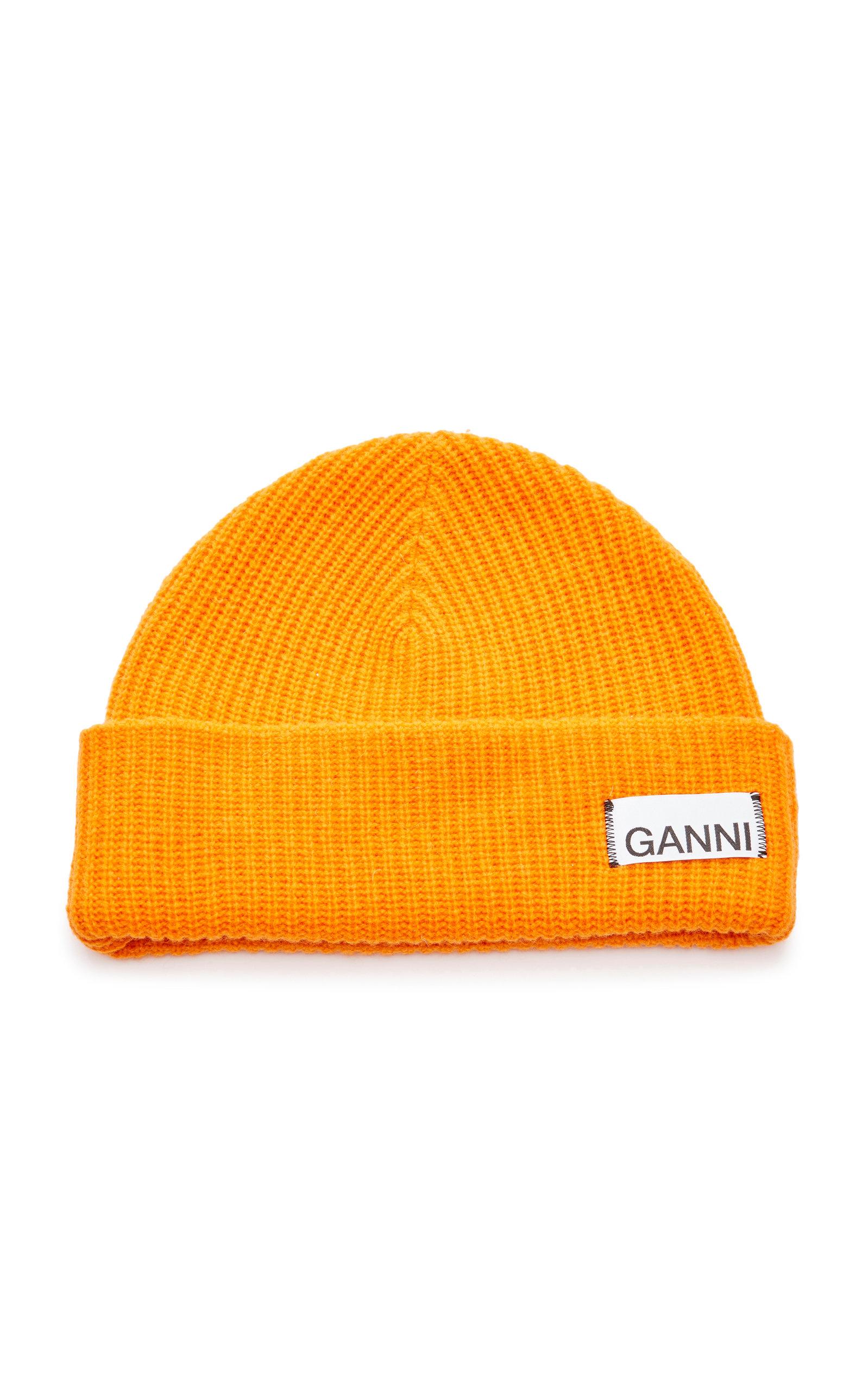 Ganni Hats Wool-Blend Beanie
