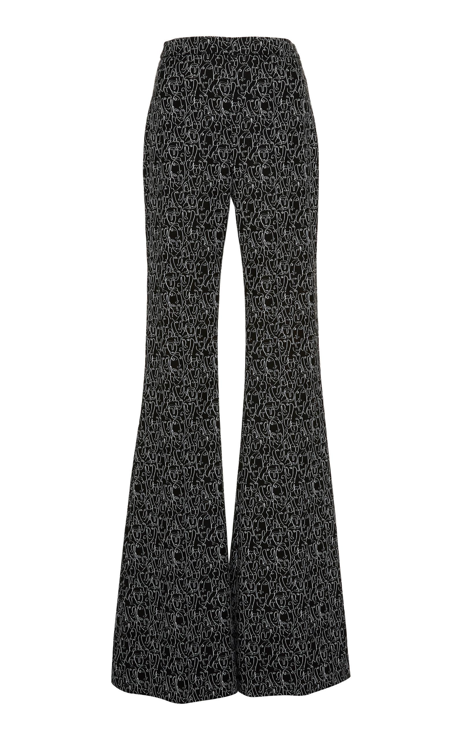 250210d0f3 Face-Print Flared Trousers by Christian Siriano   Moda Operandi