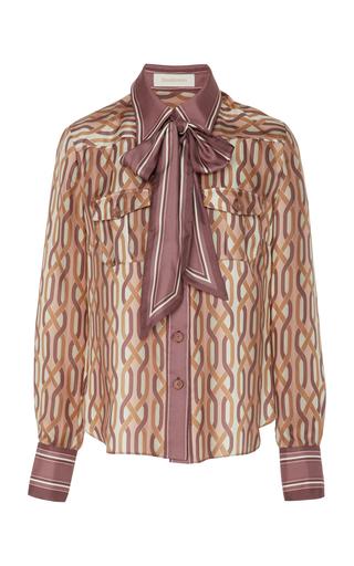 8402fefb6b621c trunkshow. Zimmermann. Pussy-Bow Printed Silk Shirt