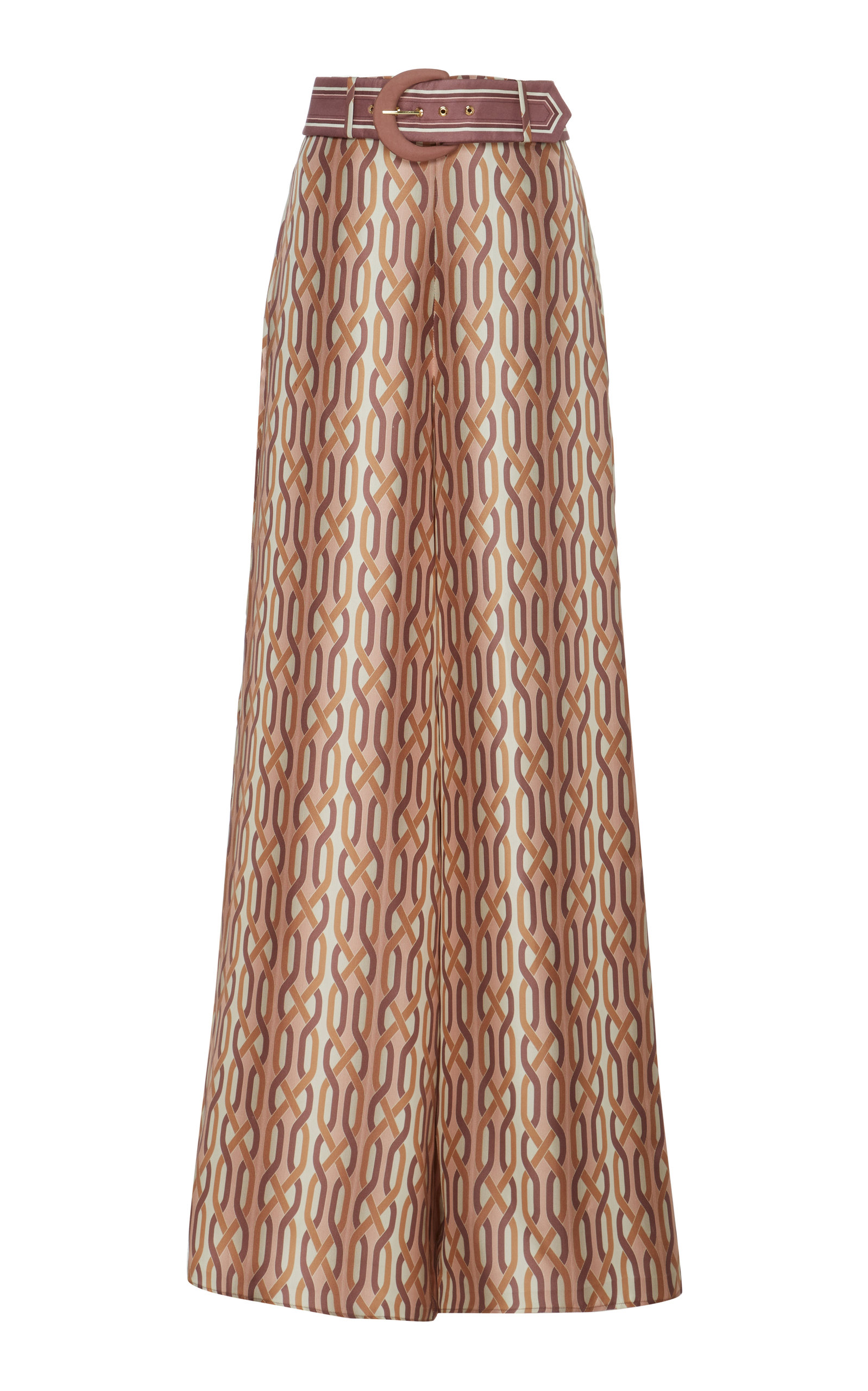 Zimmermann Printed Silk Wide-Leg Pants In Multi