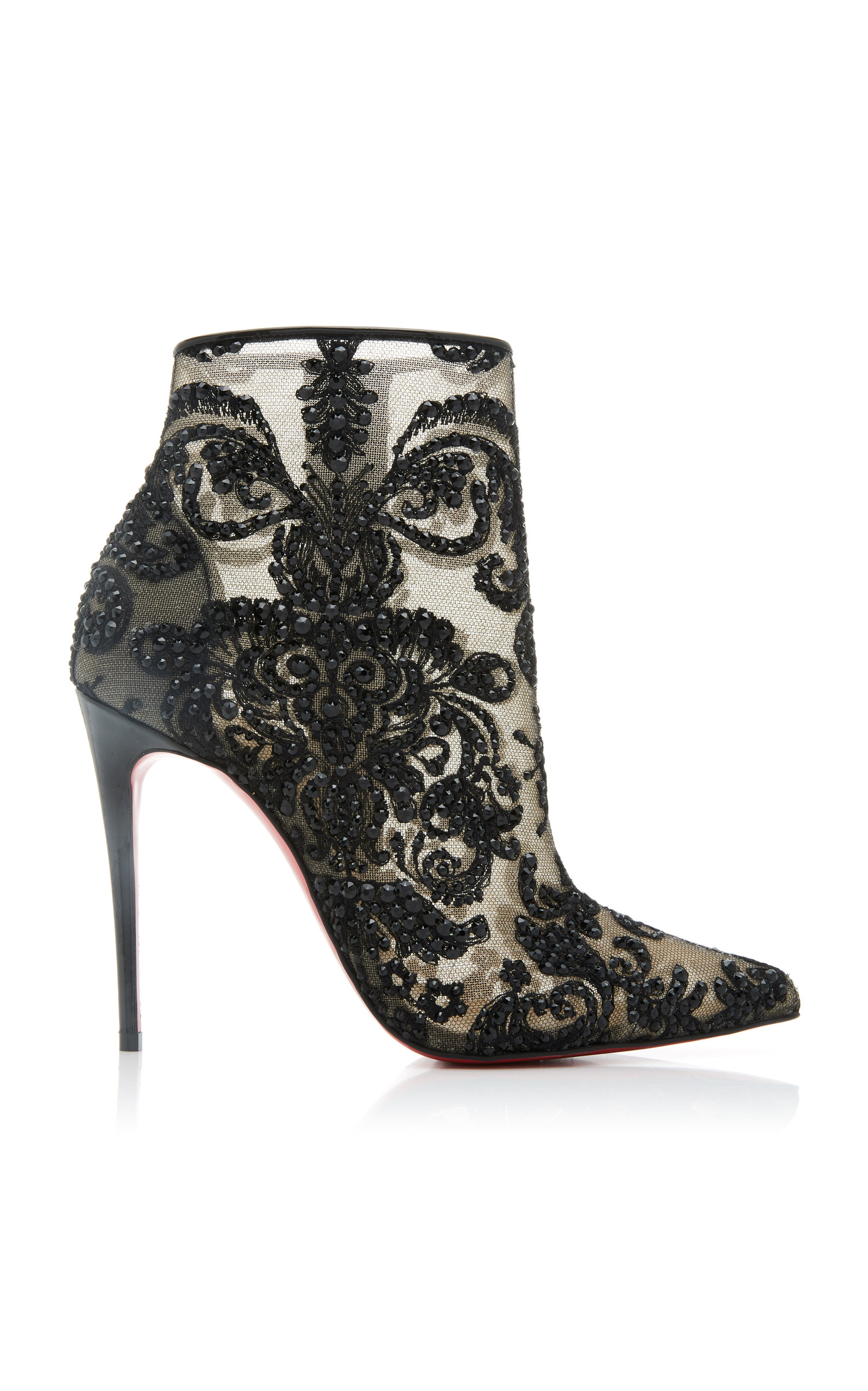 8b66b1d15a9 Exclusive Gipsy Embellished Mesh Ankle Boots