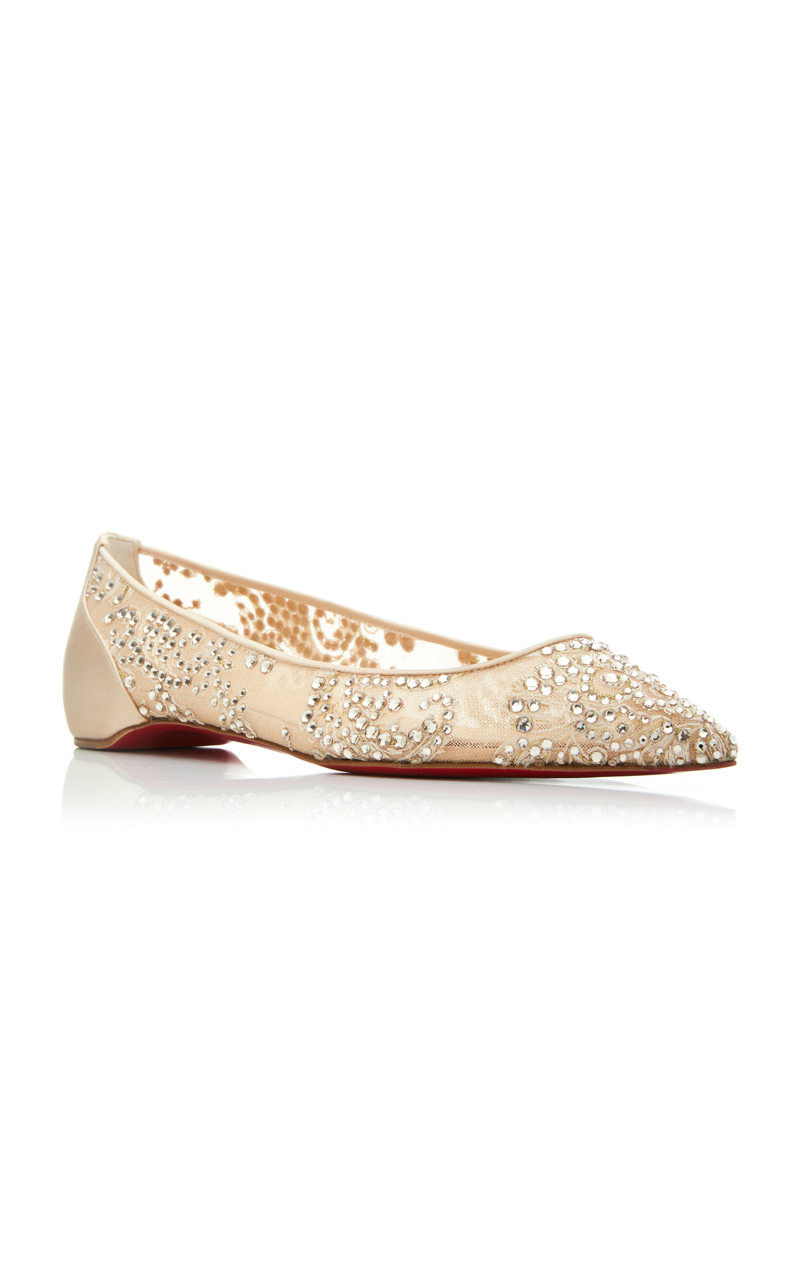 0268519dd5f Exclusive Follies Embellished Mesh Point-Toe Flats