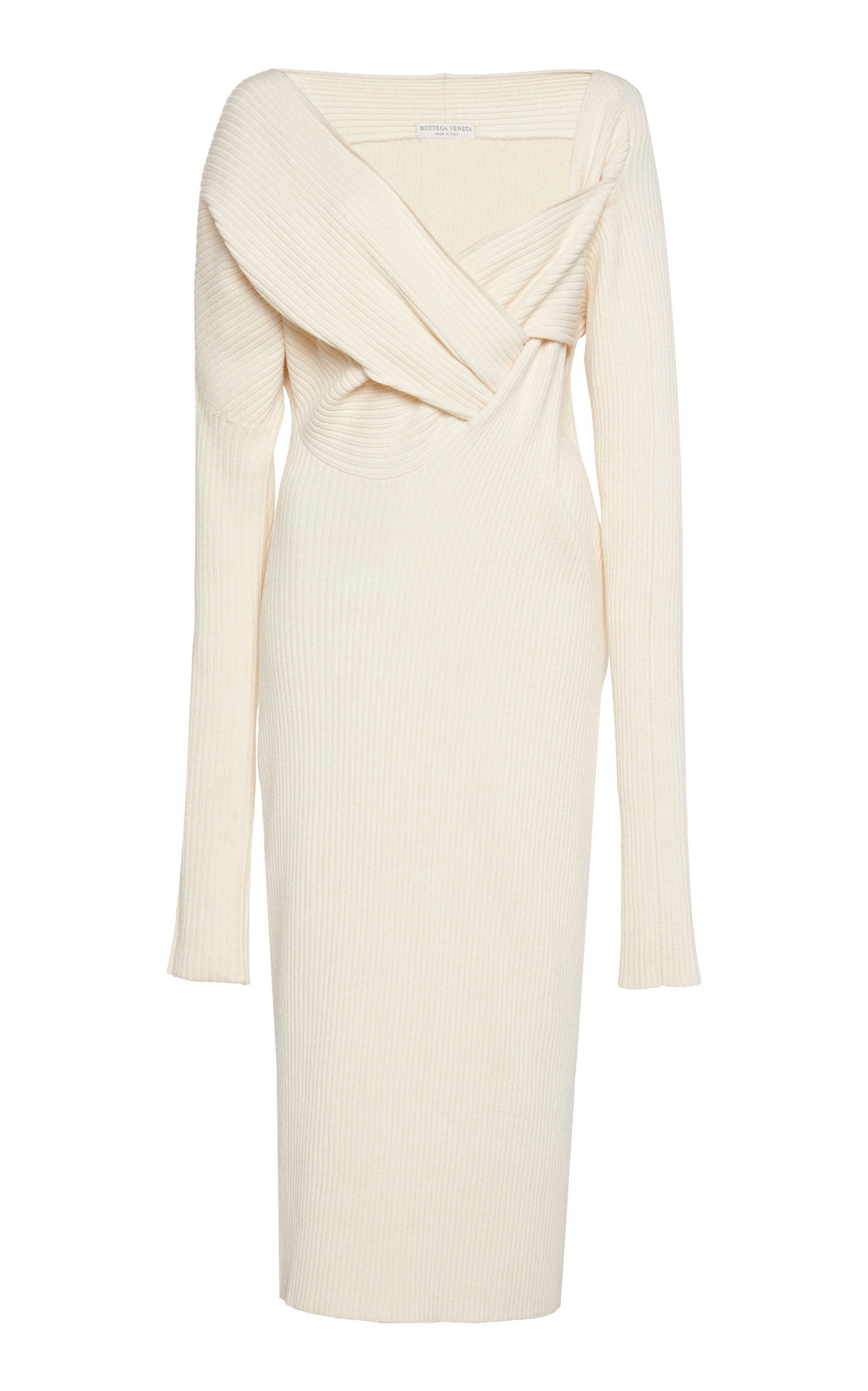 Bottega Veneta Dress Asymmetric Draped Knitted Midi Dress