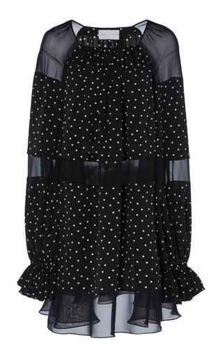 6fc3a96a6a13 Polka Dot Rose Print Silk Organza Puff Sleeve Mini Dress by Alessandra Rich  | Moda Operandi