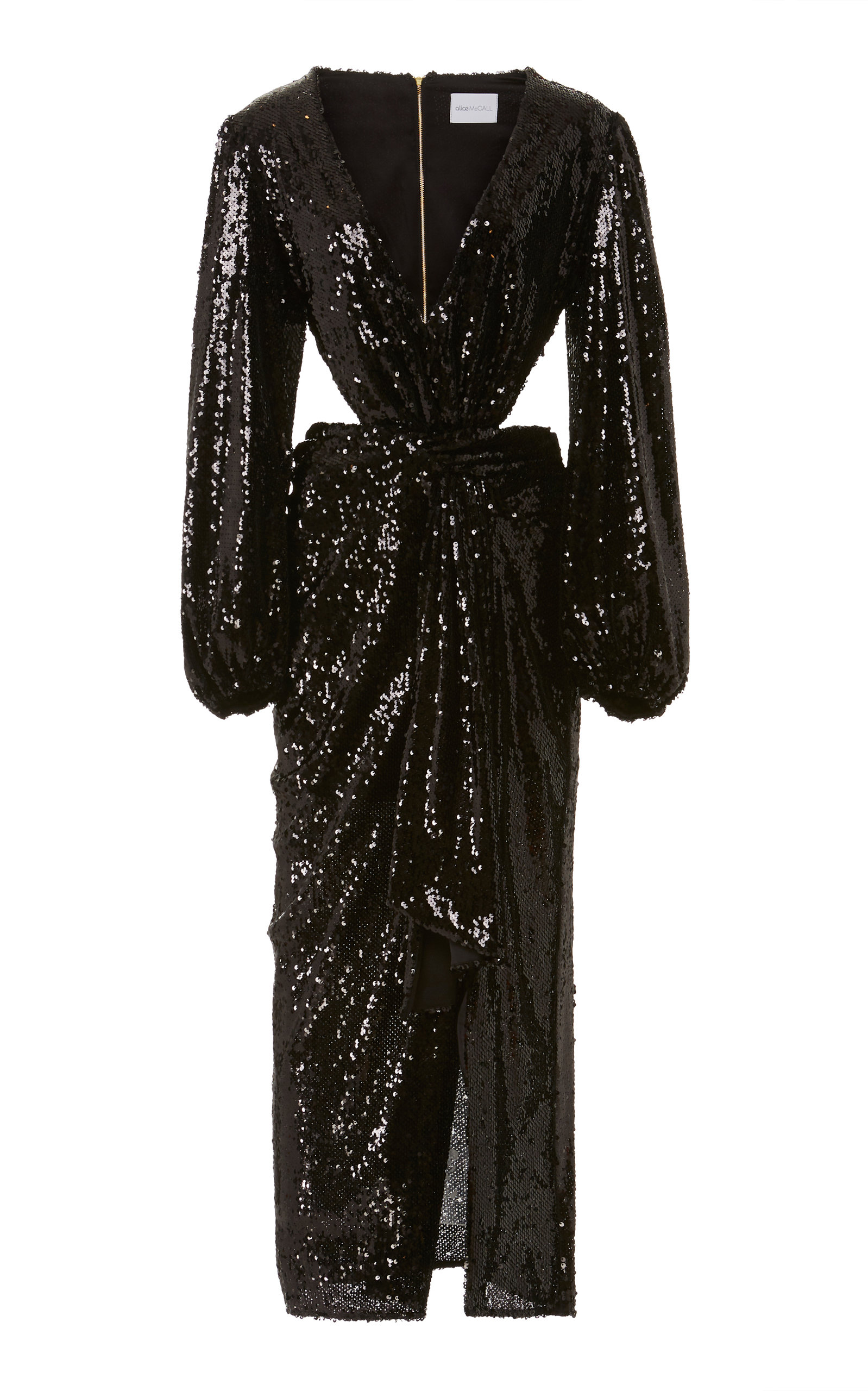 Alice Mccall Dresses Electric Orchid Sequined-Chiffon Gown