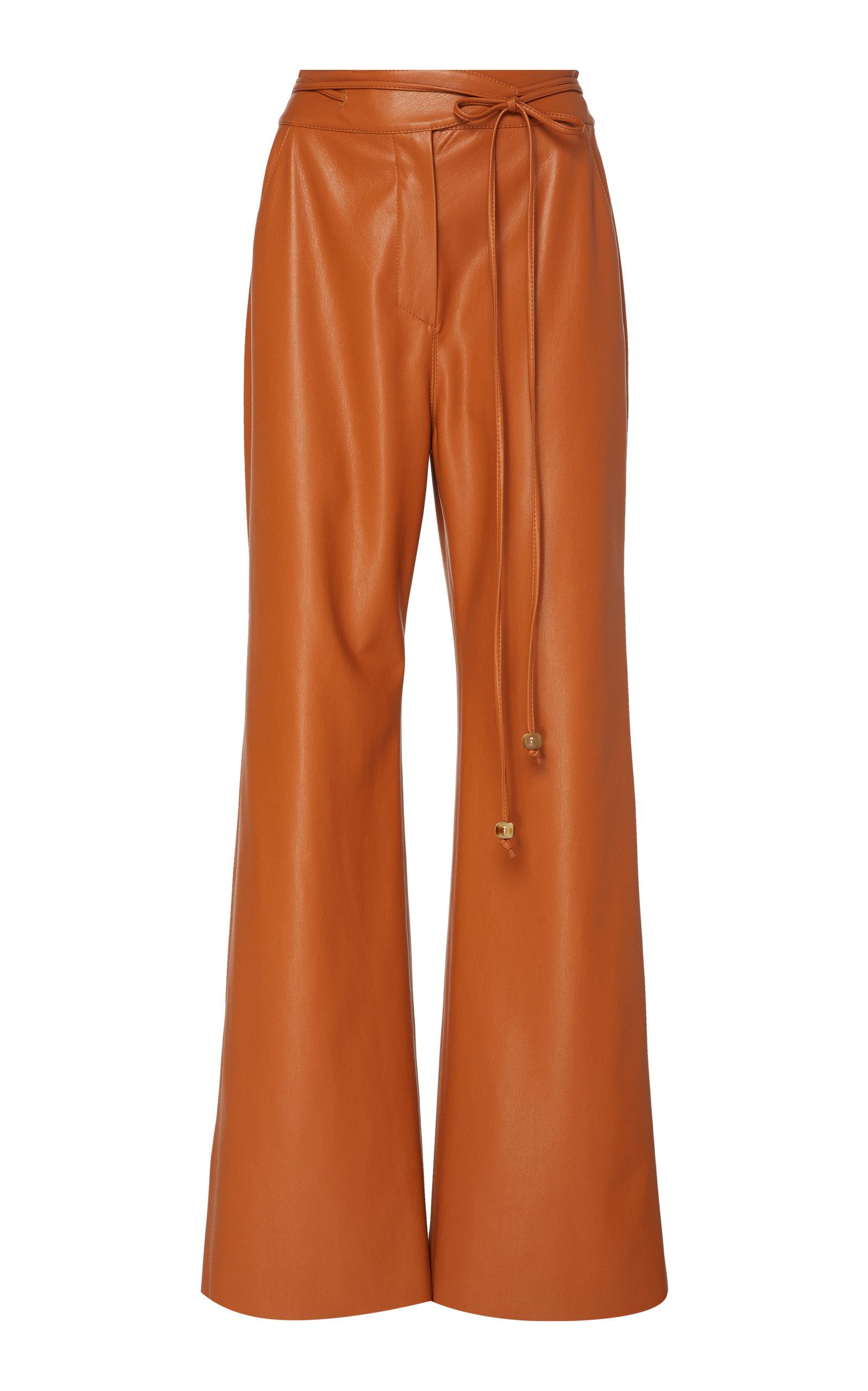 Nanushka Pants Chimo Vegan Leather Wide-Leg Pants