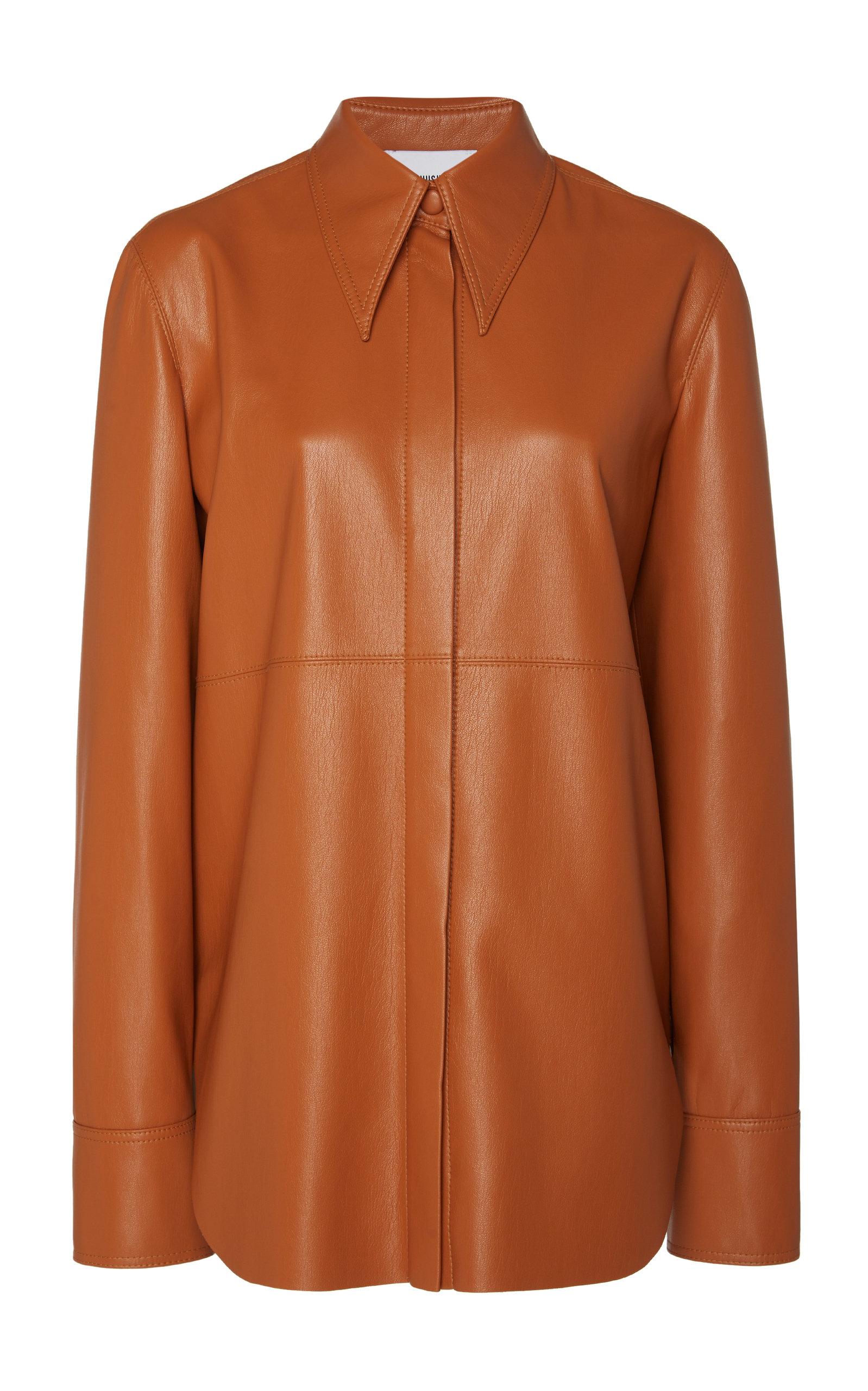 7bccbe79498d98 Noelle Oversized Vegan Leather Shirt by Nanushka | Moda Operandi
