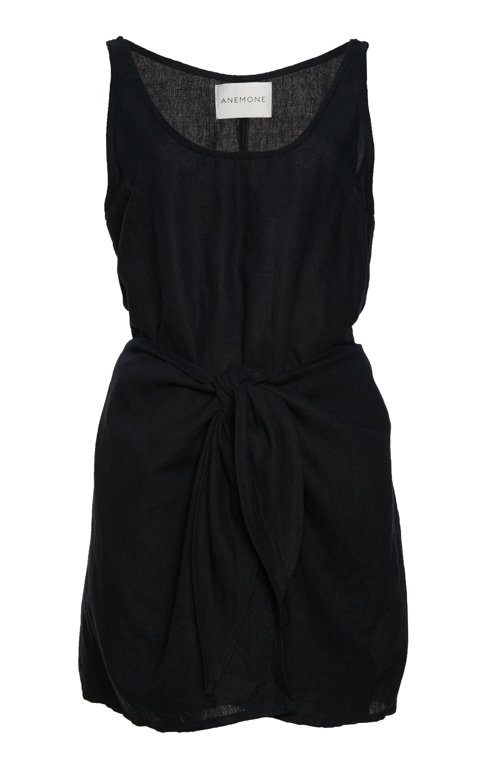 2b9e1d16bb Sleeveless Linen Blend Wrap Dress by Anemone   Moda Operandi